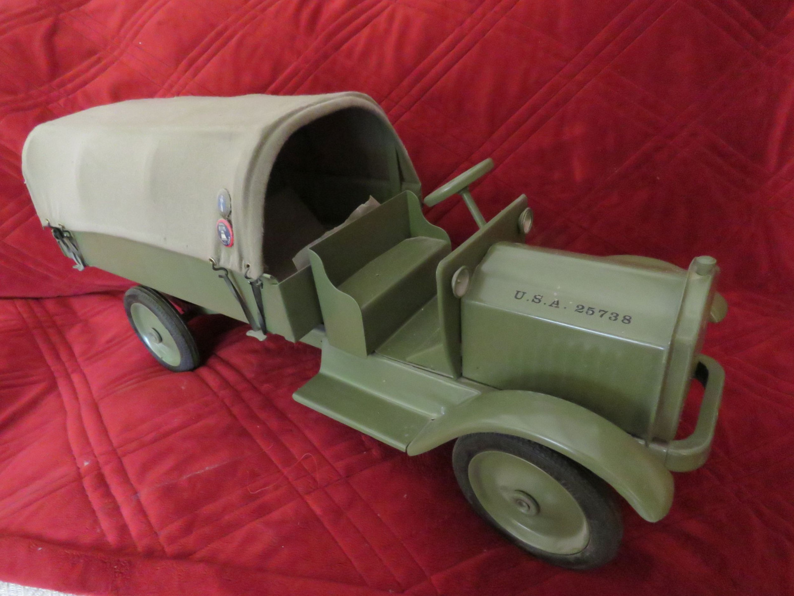 Buddy L Troop Carrier Truck - Large Pressed Tin - Image 2