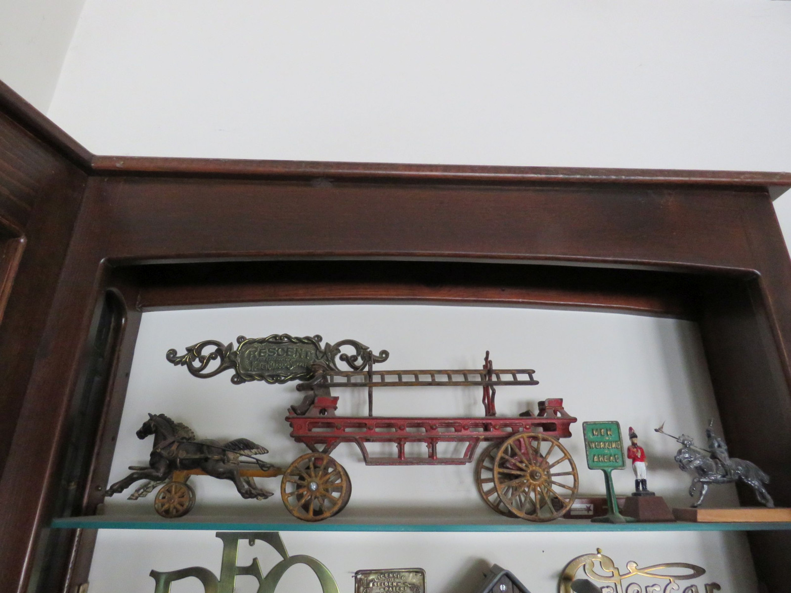 Kenton Cast Iron Horse Drawn Ladder Wagon - Image 1