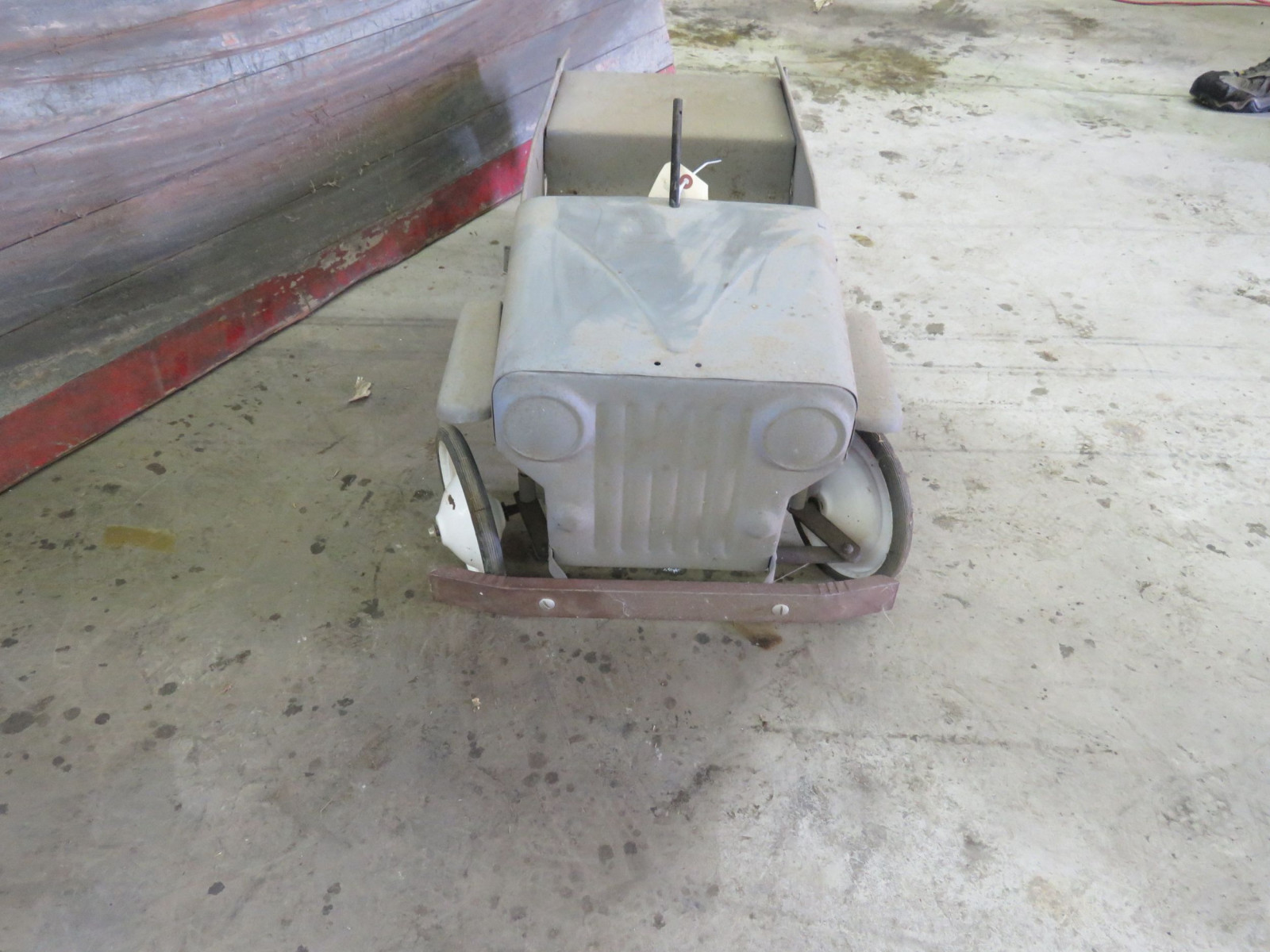 Vintage Garton Military Willys Jeep Pedal Car for restore - Image 2
