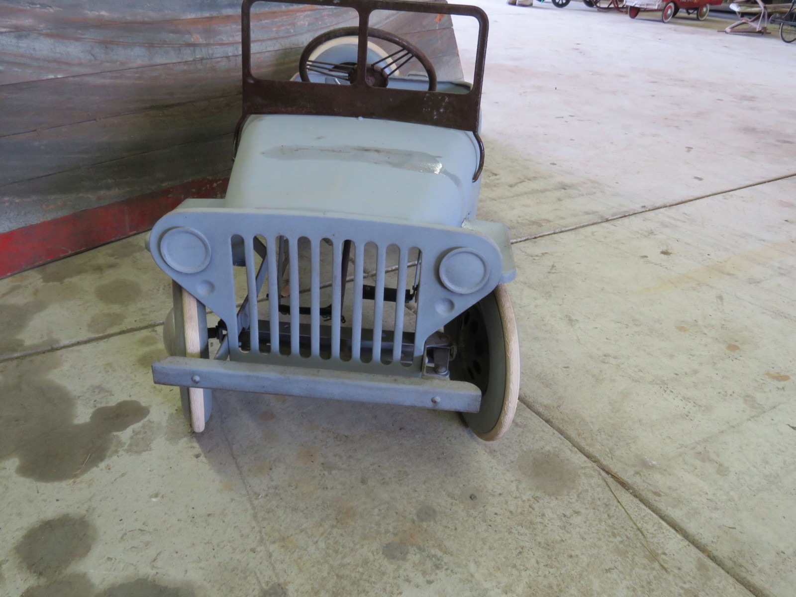 Vintage Garton Military Willys Jeep Pedal Car - Image 2