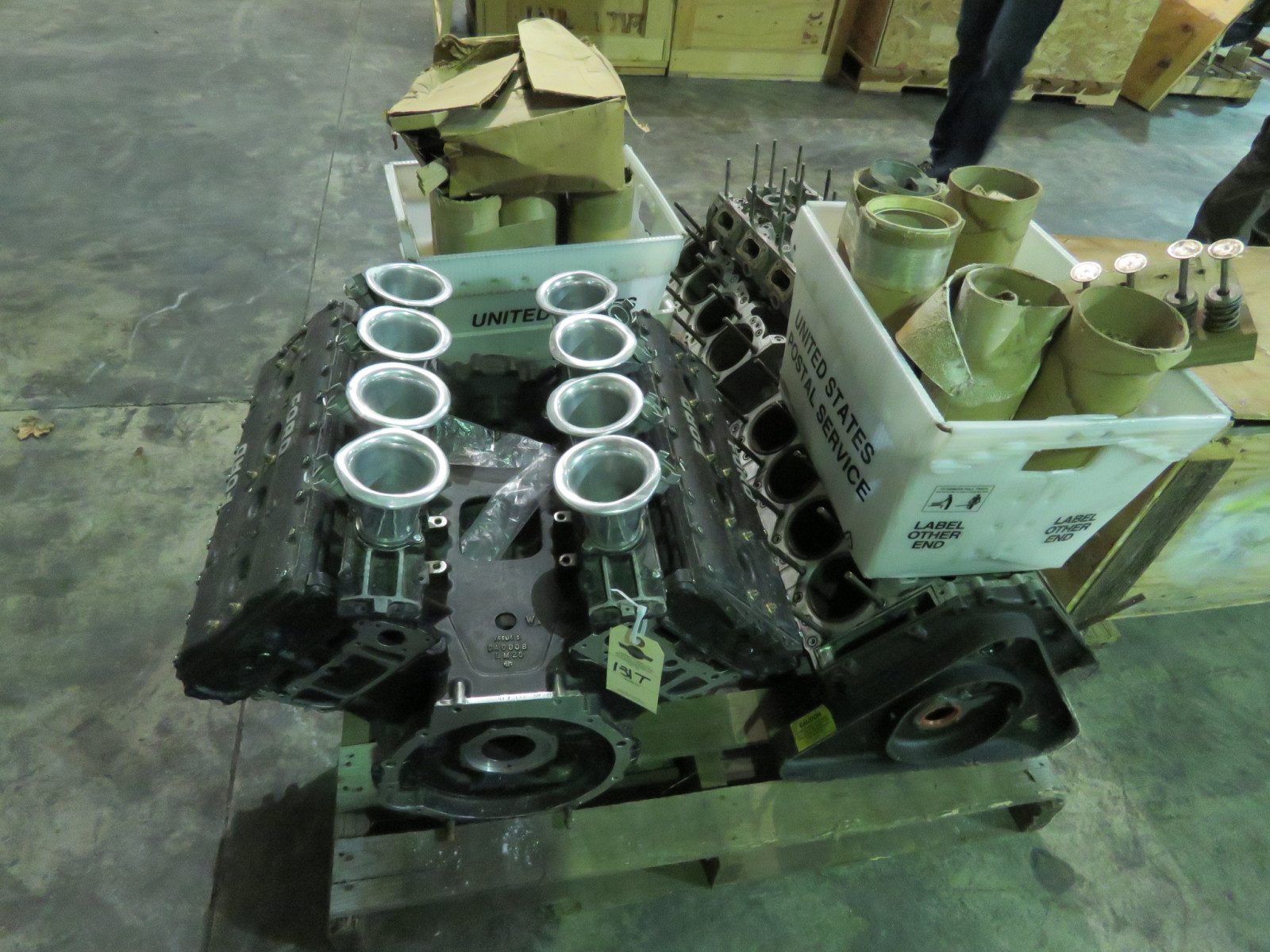 Ford Formula F1 Cosworth Engine with Parts Selling as a Pallet - Image 1