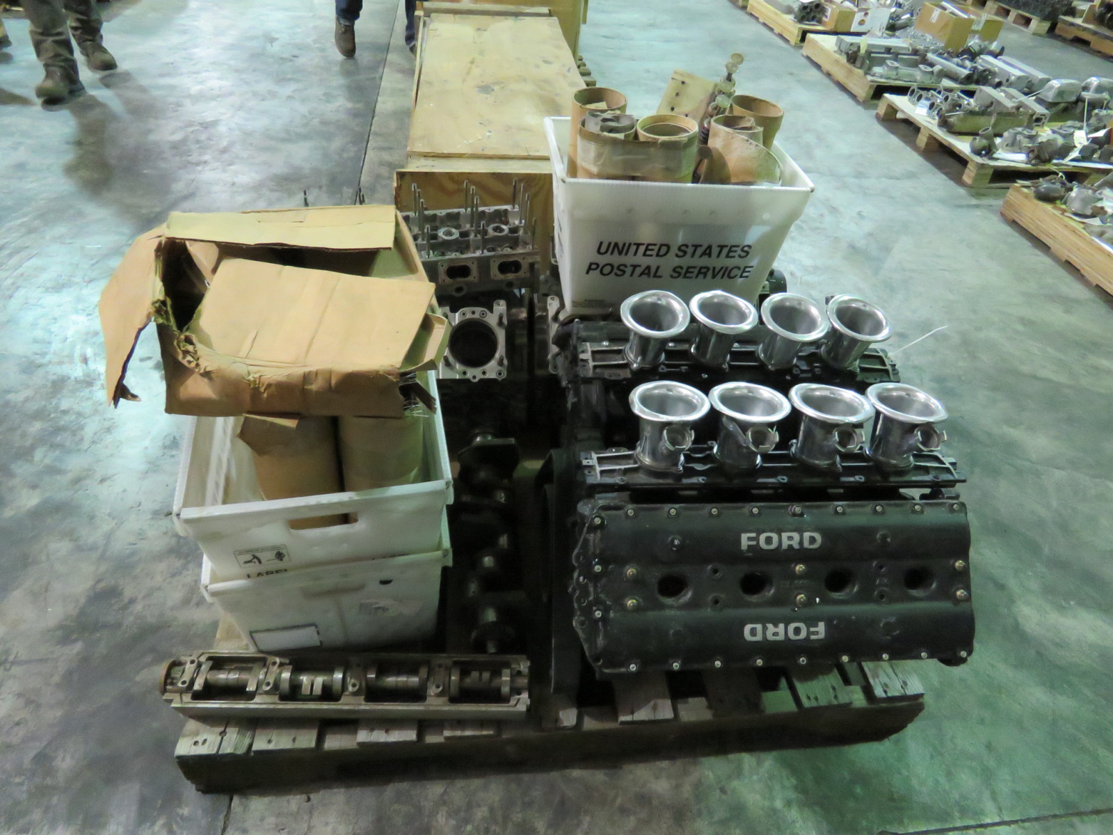Ford Formula F1 Cosworth Engine with Parts Selling as a Pallet - Image 2