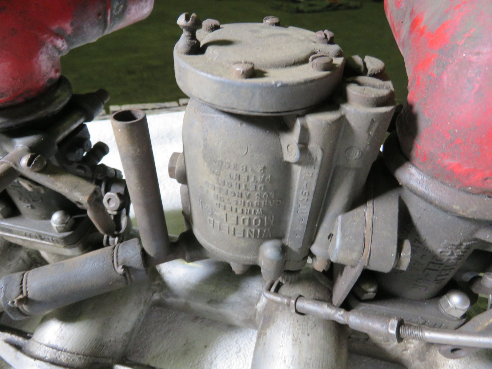 Aluminum Intake with dual Winfield Model SR Carbs - Image 2