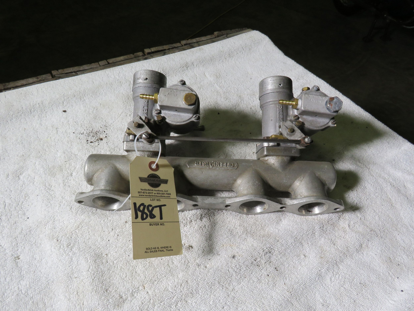 Rare Offenhauser Aluminum Intake with Riley Carbs - Image 1