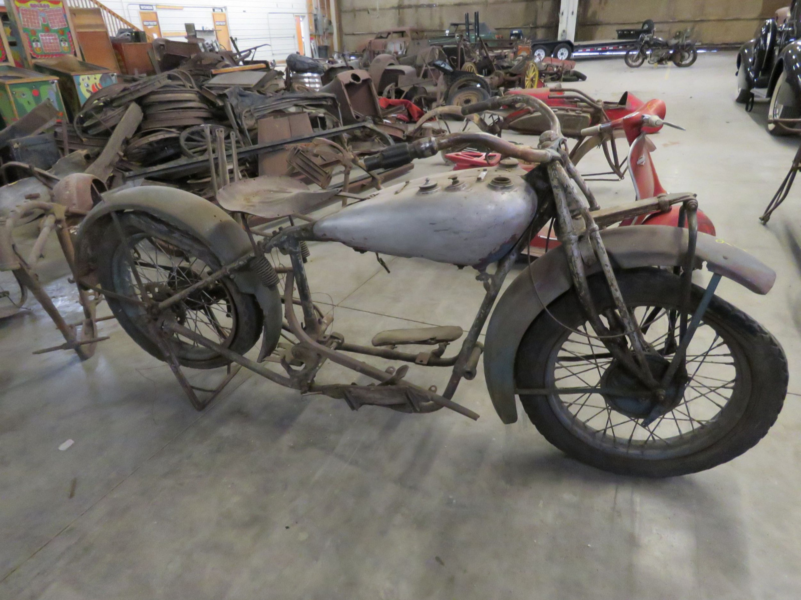 RARE 1929 Indian V-Twin Motorcycle - Image 3