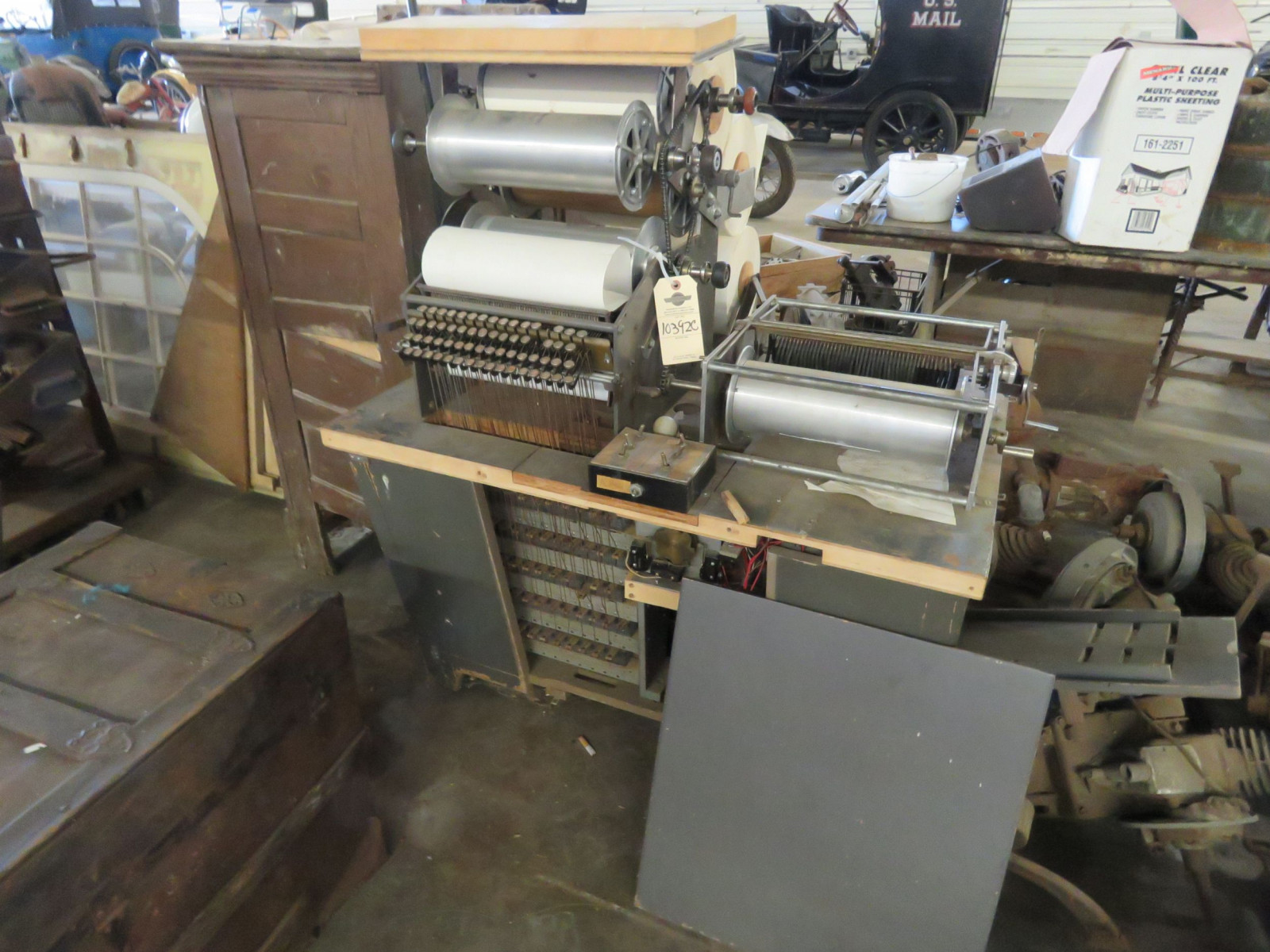 Vintage Roll Perforator Musicla Roll Making Machine - Image 1