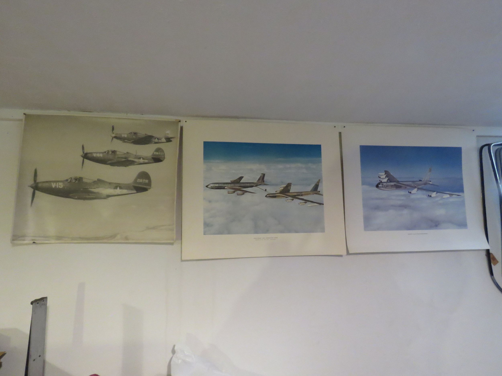 WWII Picture and 3 Boeing Prints - Image 1