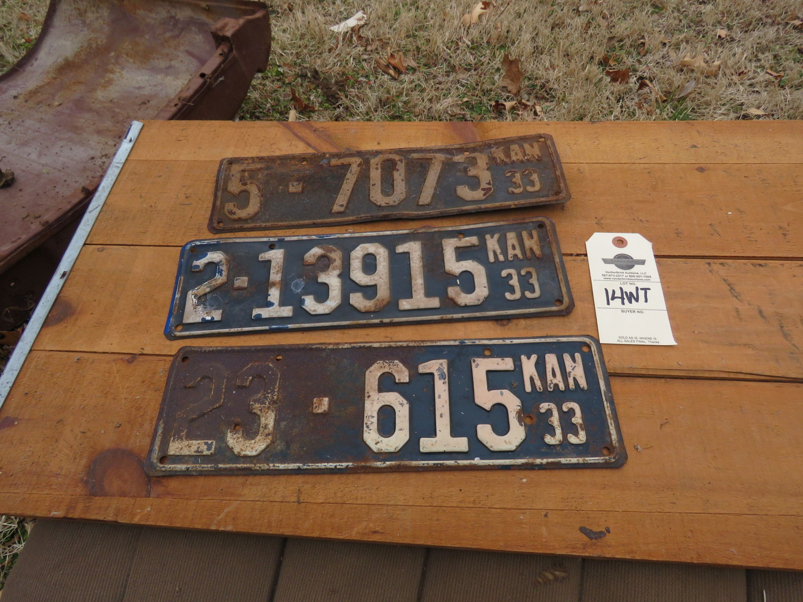 1933 Kansas License Plates - Image 1