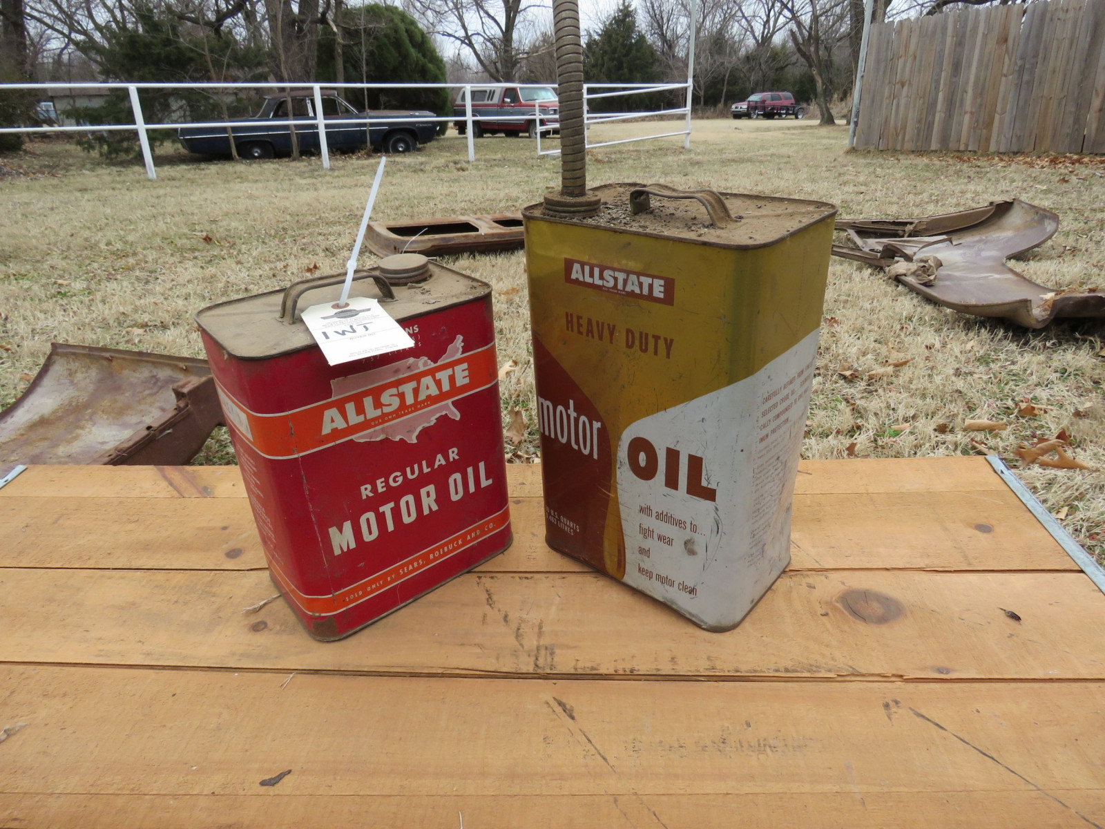 2 All State Oil Cans - Image 1