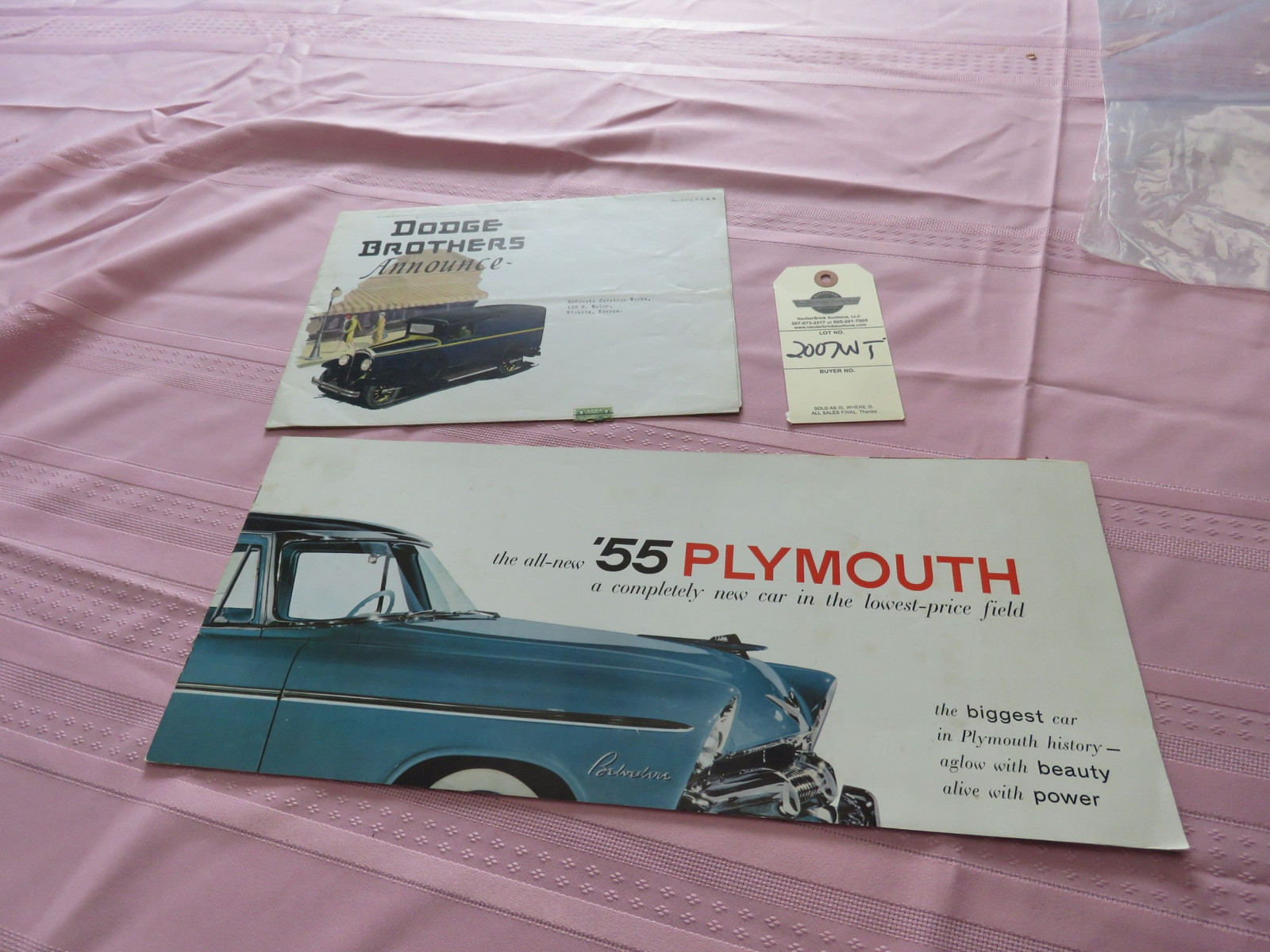1955 Plymouth & Dodge Brothers Literature Group - Image 1