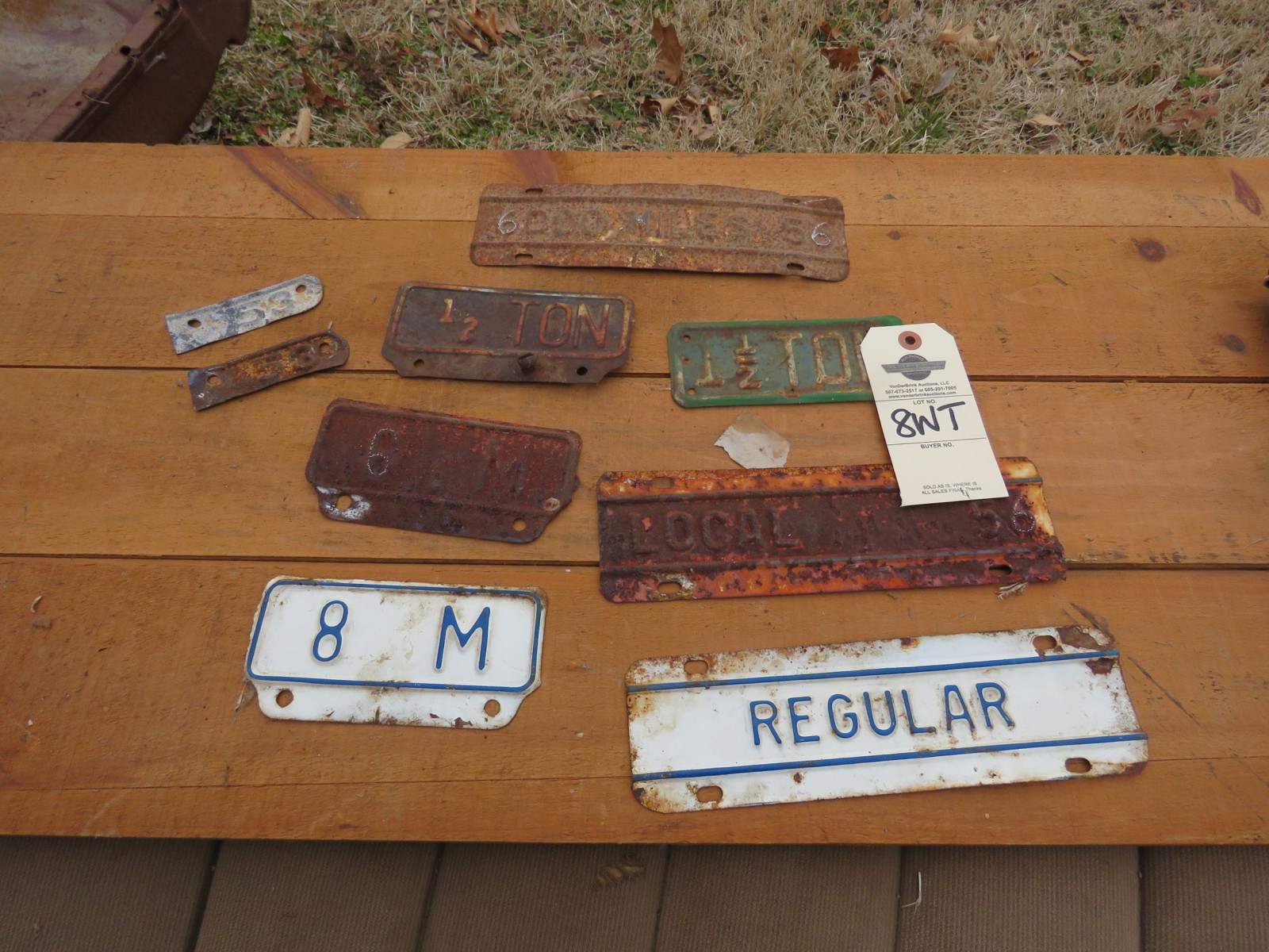 Vintage License Plate Group - Image 1