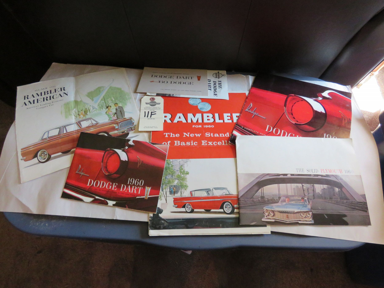 Grouping of Dodge and Rambler Automotive Lierature - Image 1