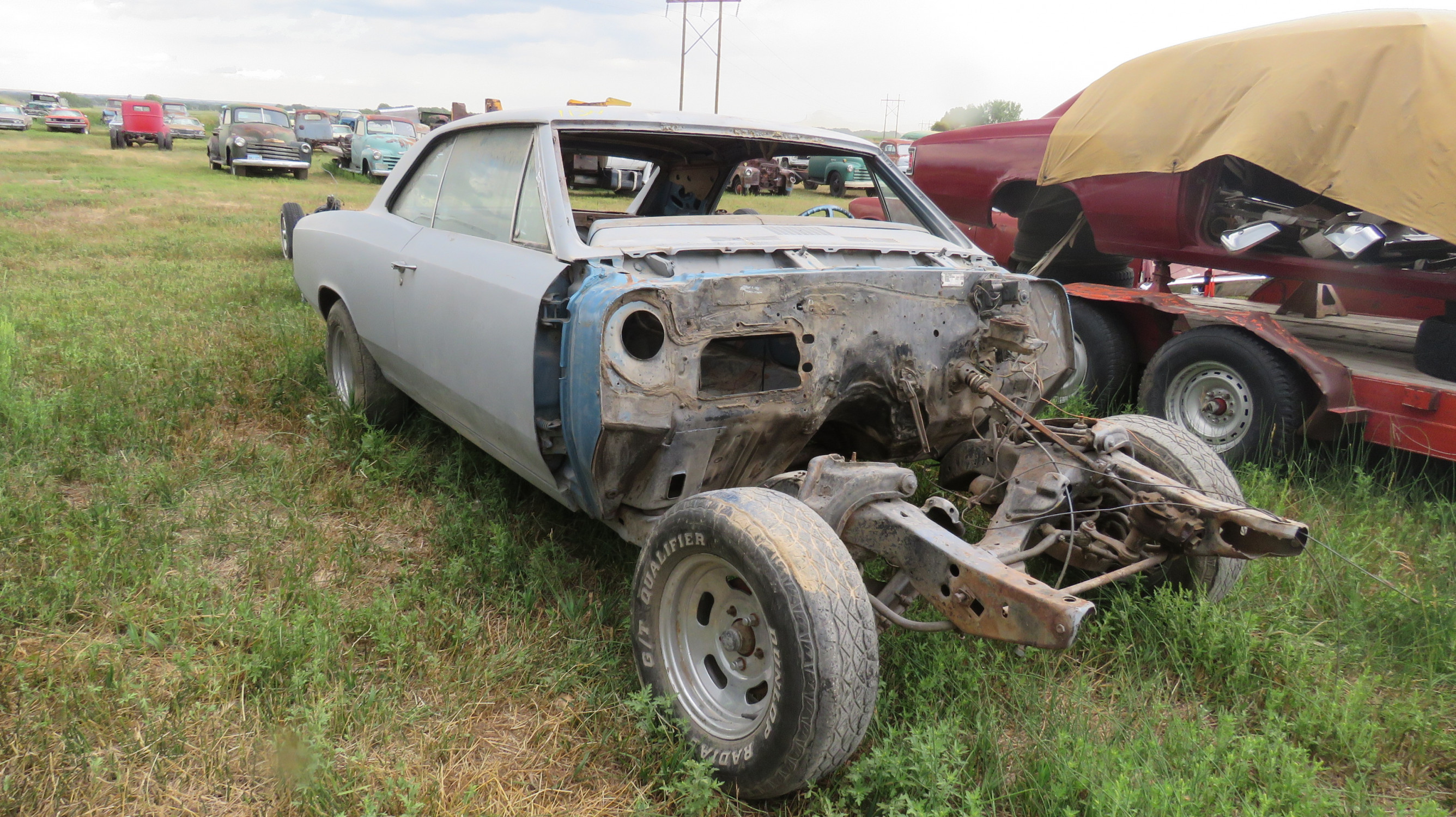 1967 CHEVROLET CHEVELLE ROLLING BODY FOR PROJECT - Image 1