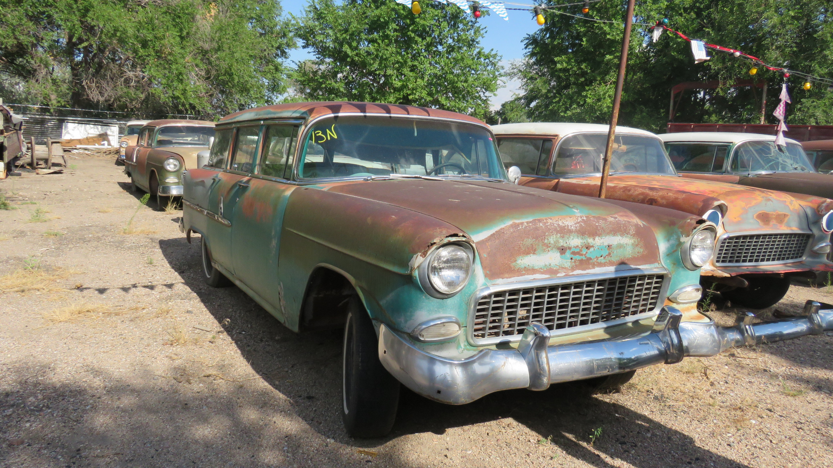 1955 CHEVROLET 4DR WAGON PROJECT - Image 1