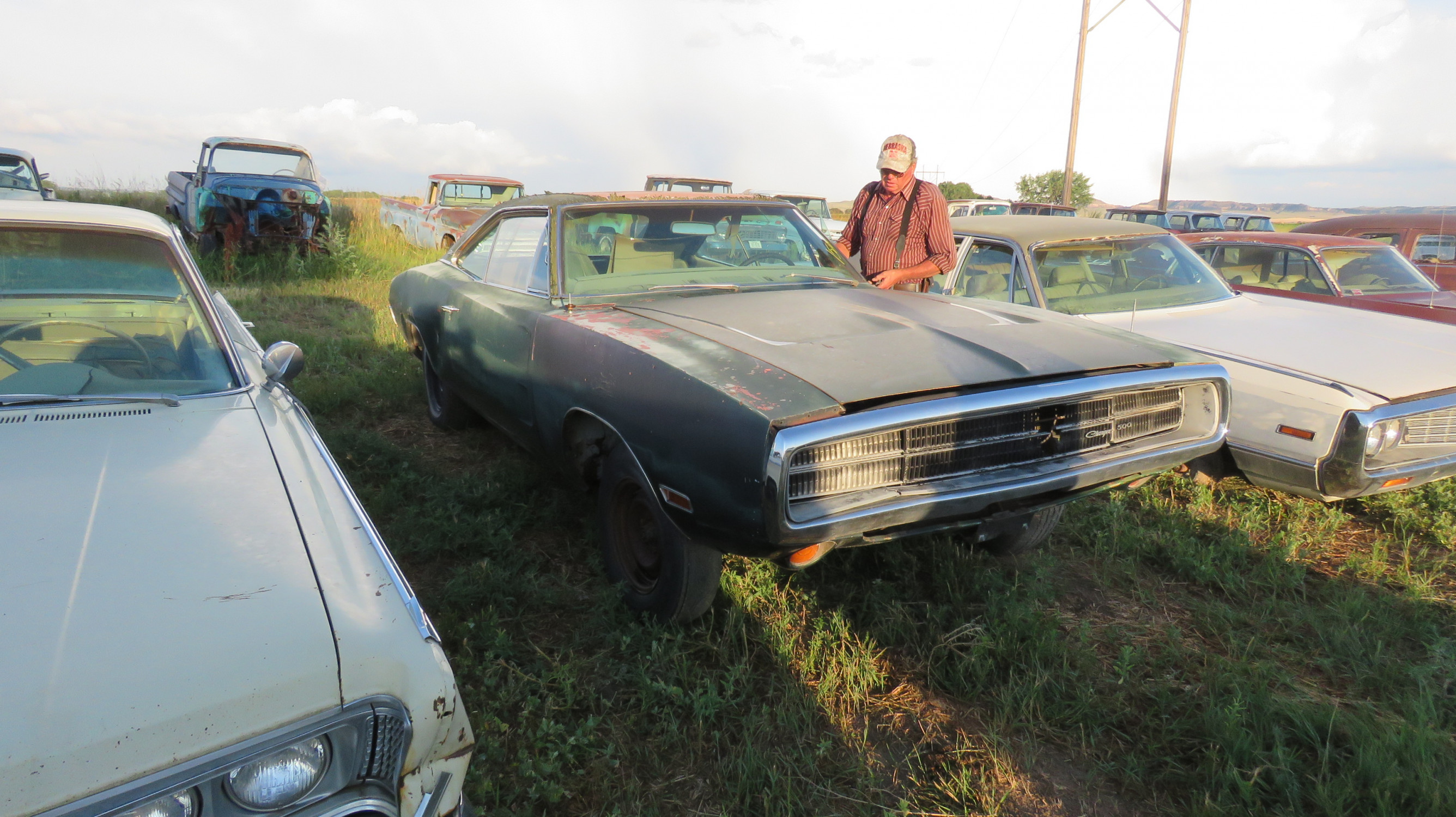 1970 DODGE CHARGER 500 ROLLING PROJECT - Image 2