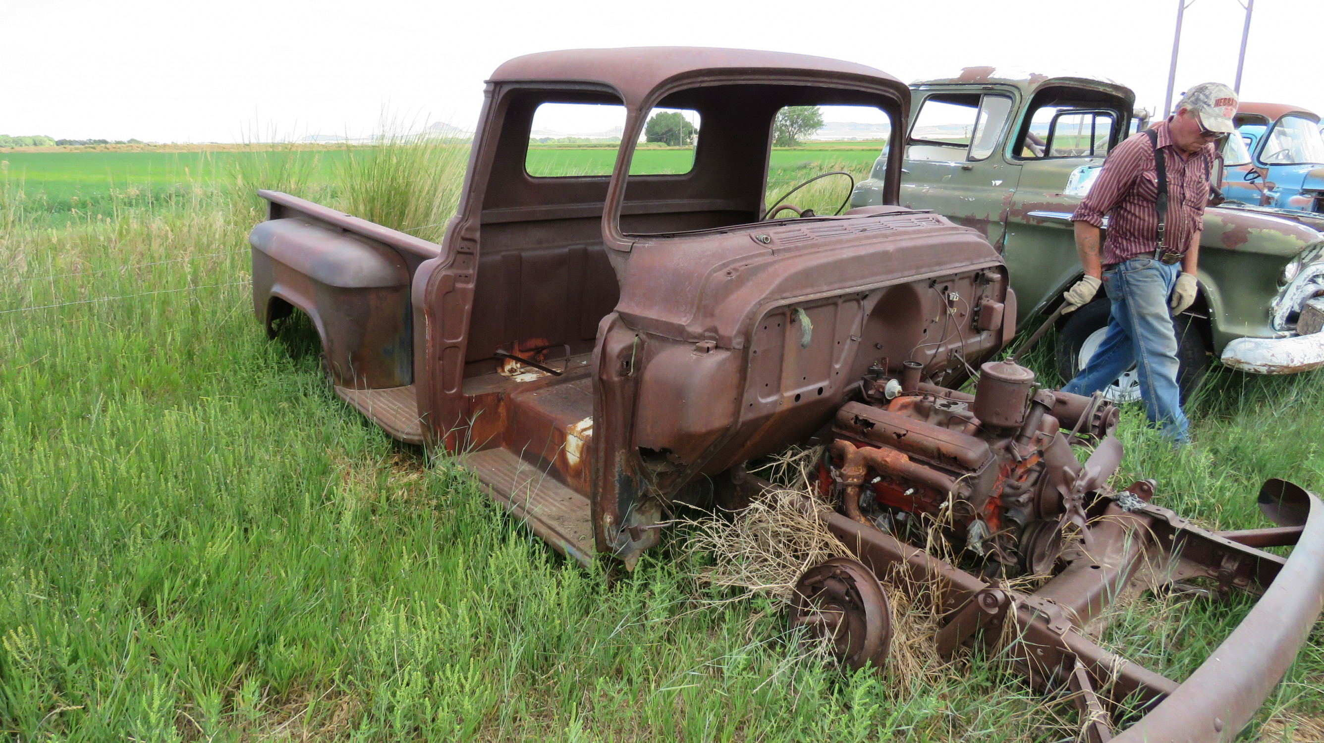 1955 CHEVROLET PICKUP FOR PARTS - Image 2