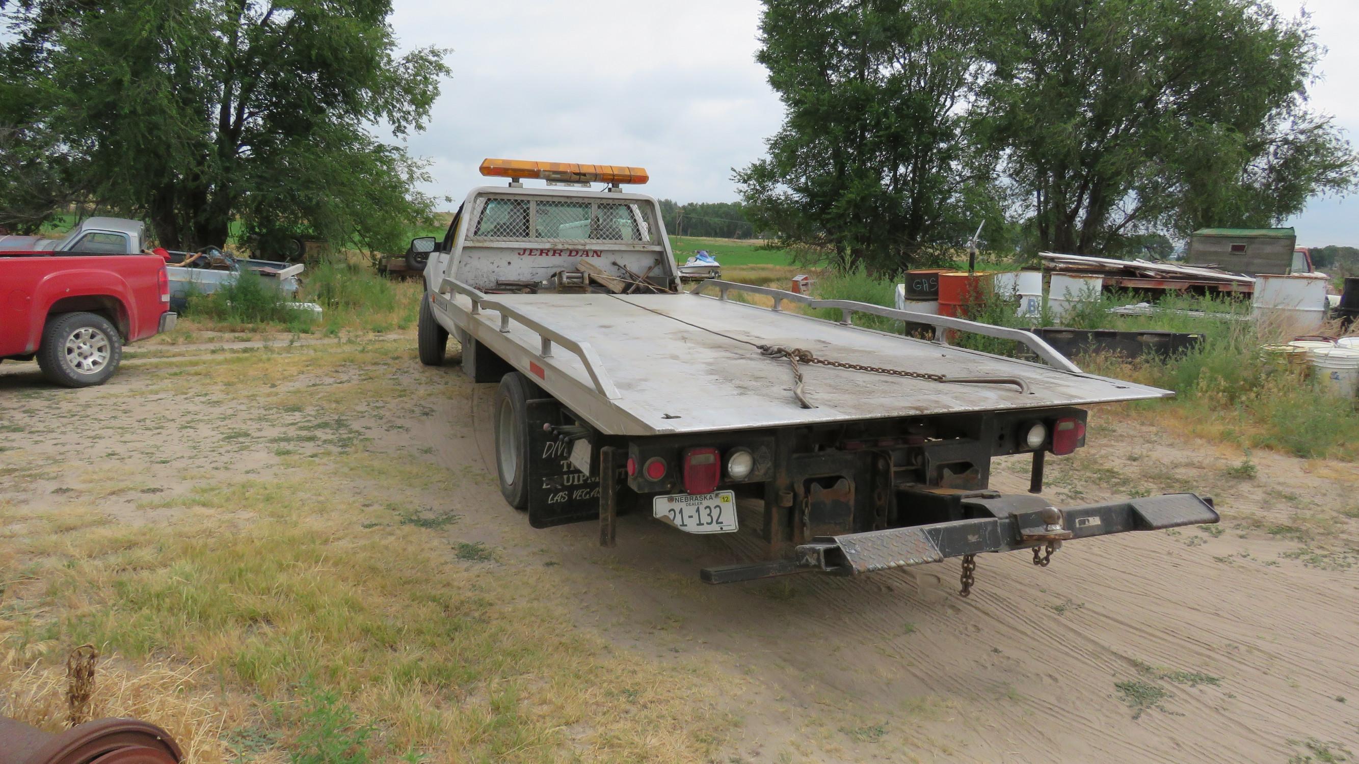 Lot 8n 1996 Chevrolet 3500hd Rollback Car Hauler Vanderbrink
