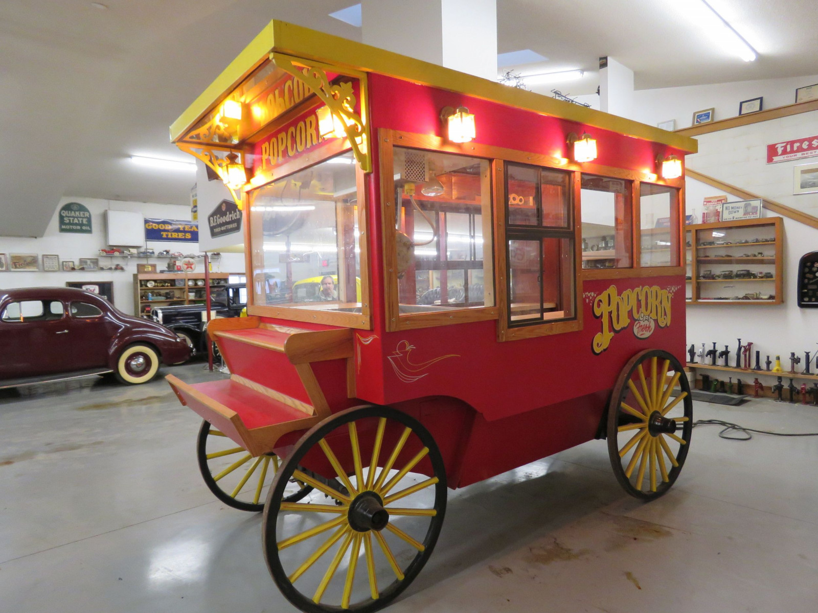Restored Horse Drawn Popcorn Wagon - Image 3
