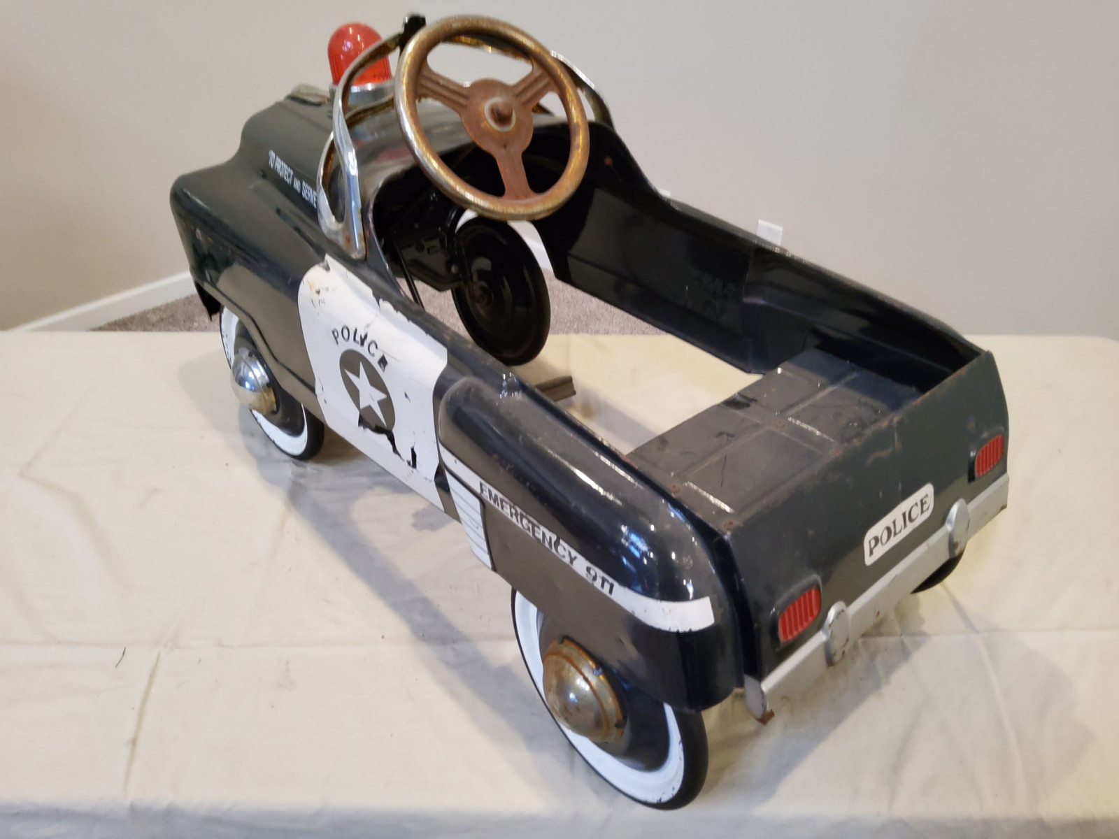 1958 Murray Sad Face Police Pedal Car - Image 6