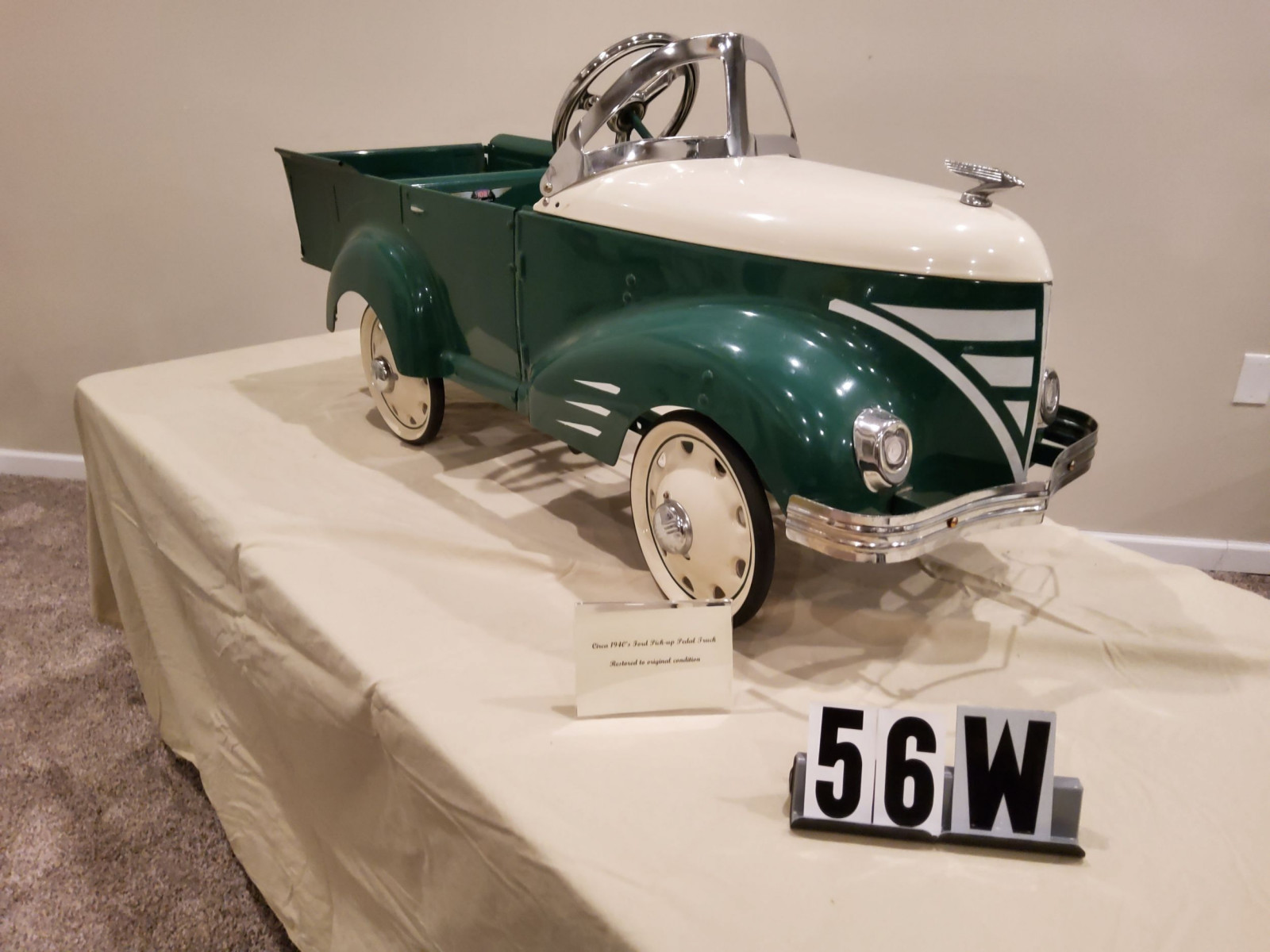 1940's Gendron Ford Pickup Pedal Car - Image 1
