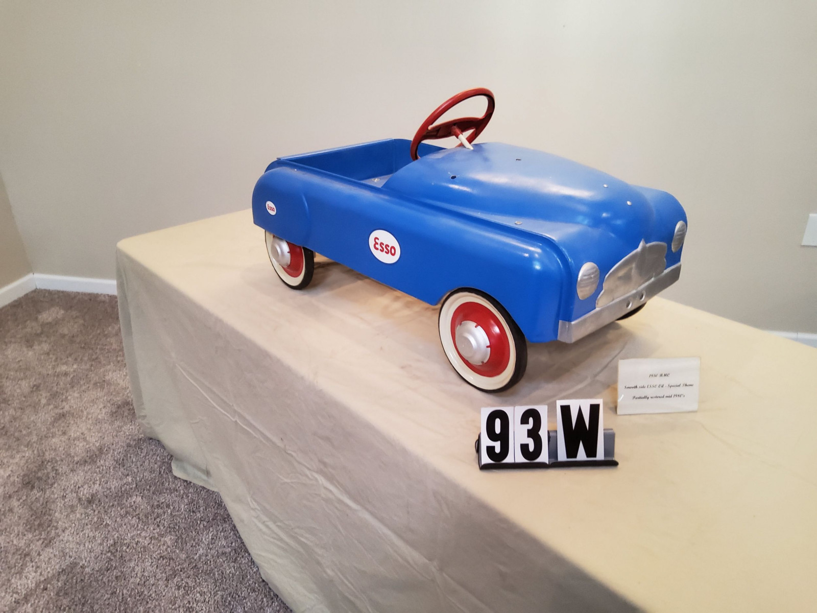 1950 BMC Smooth Side ESSO theme Pedal Car - Image 1