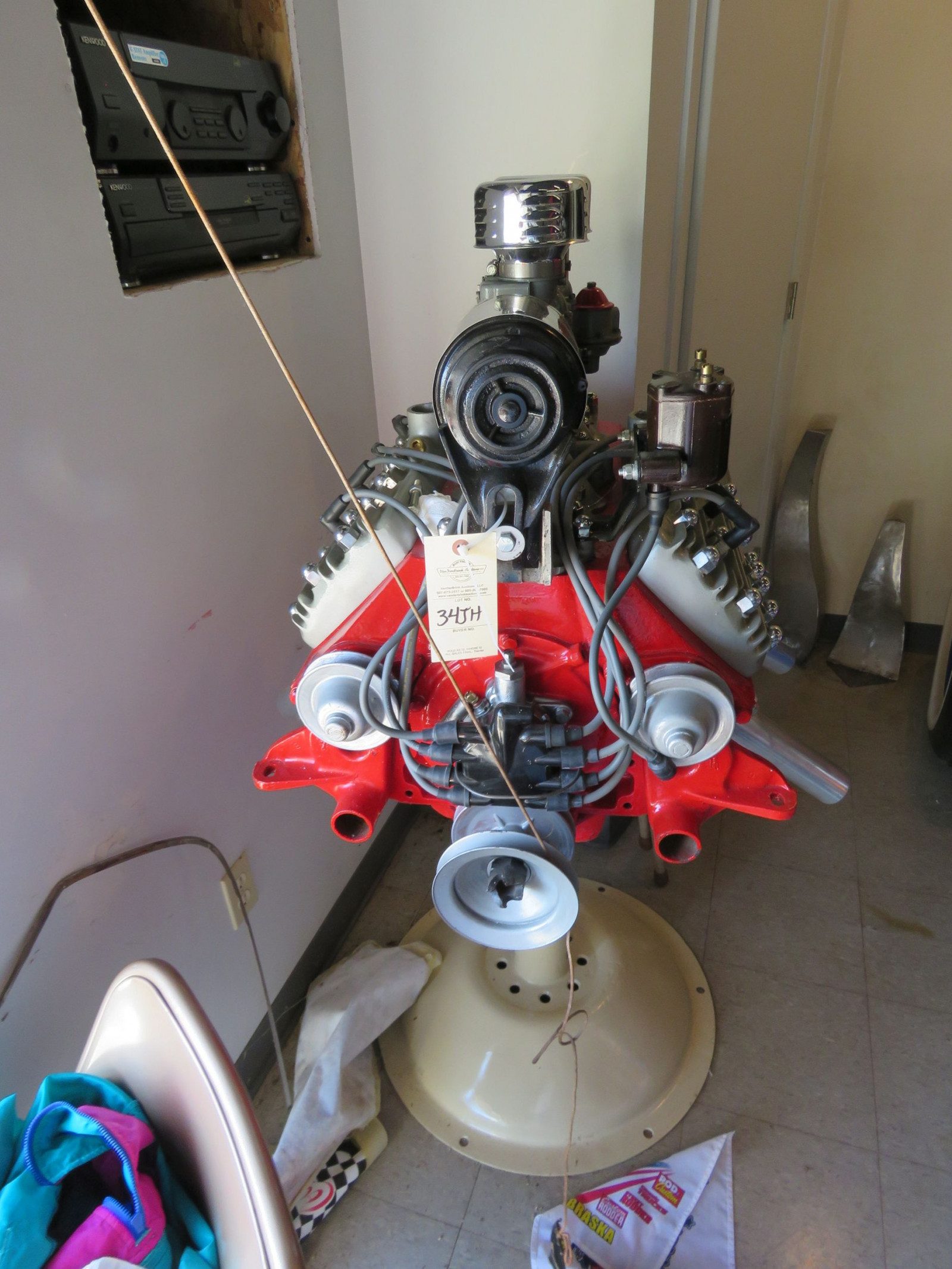 Ford Flathead V8 on stand - Image 1