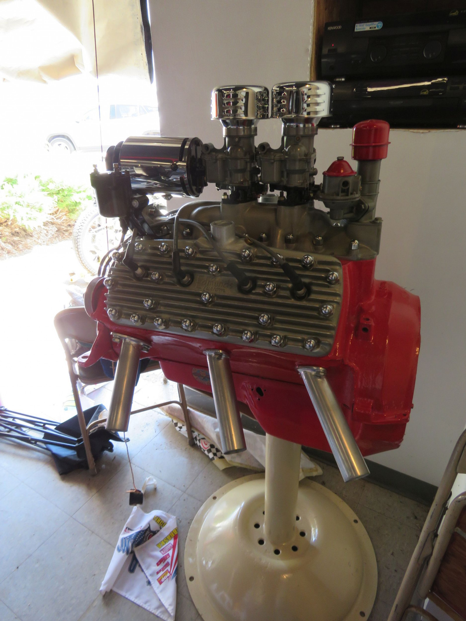 Ford Flathead V8 on stand - Image 2