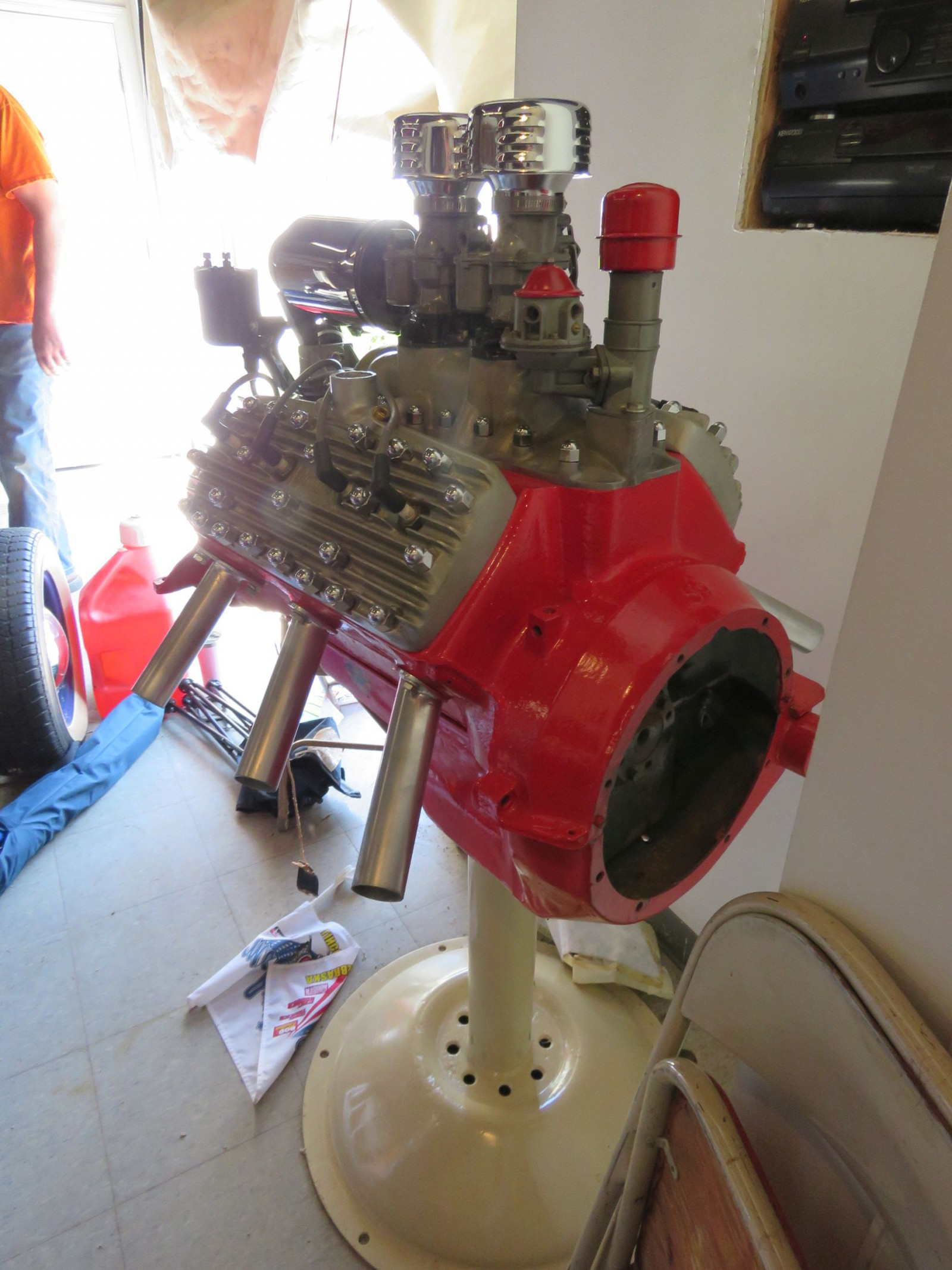 Ford Flathead V8 on stand - Image 3