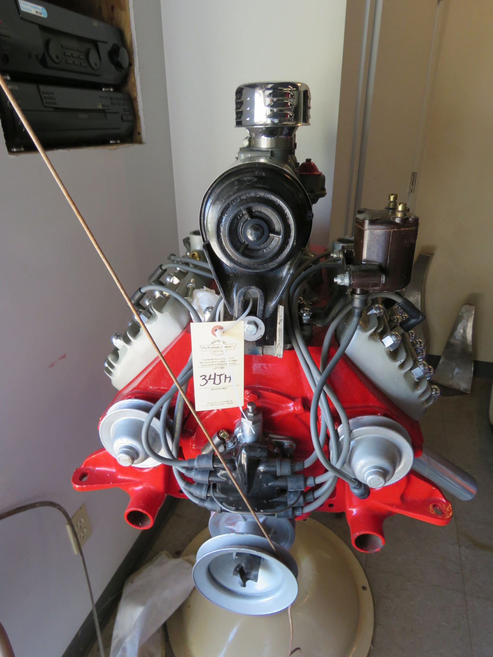 Ford Flathead V8 on stand - Image 7