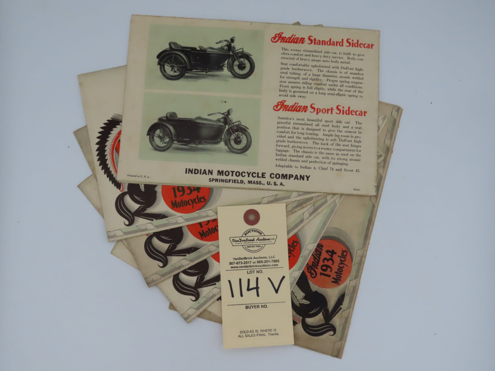 1934 Indian Motorcycles dealer manual - Image 3