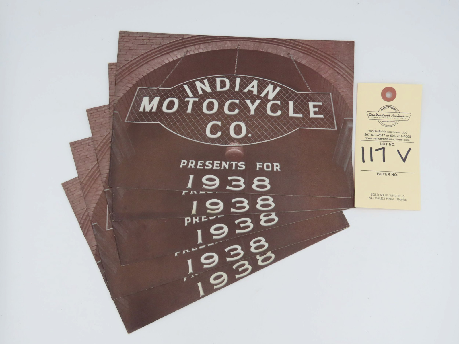 1938 Indian Motorcycle Co. dealer manual - Image 1