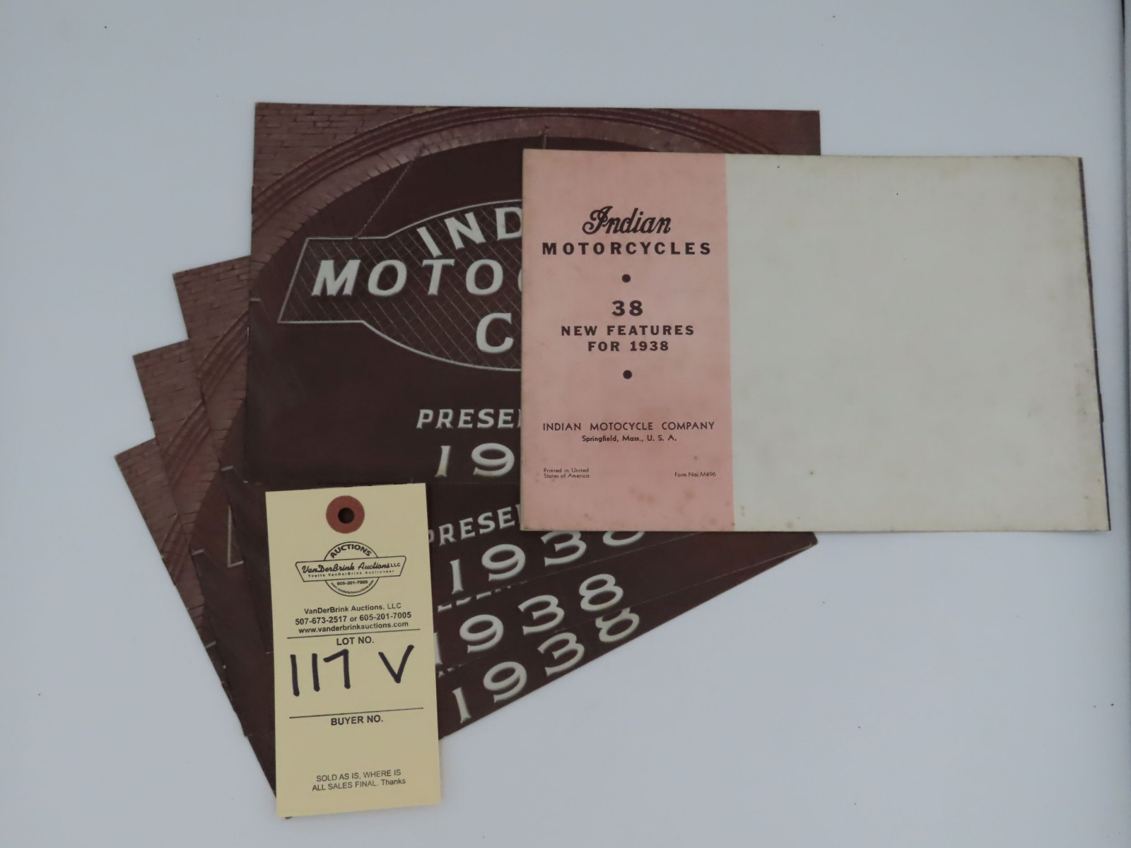 1938 Indian Motorcycle Co. dealer manual - Image 3