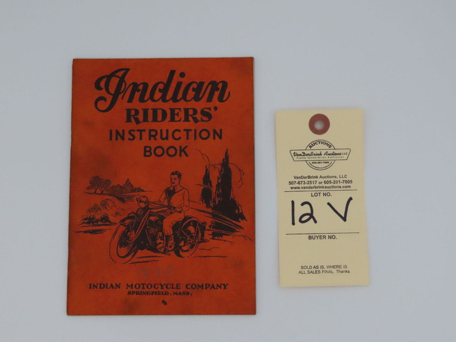 1933 Indian Riders' Instruction Book - Image 1