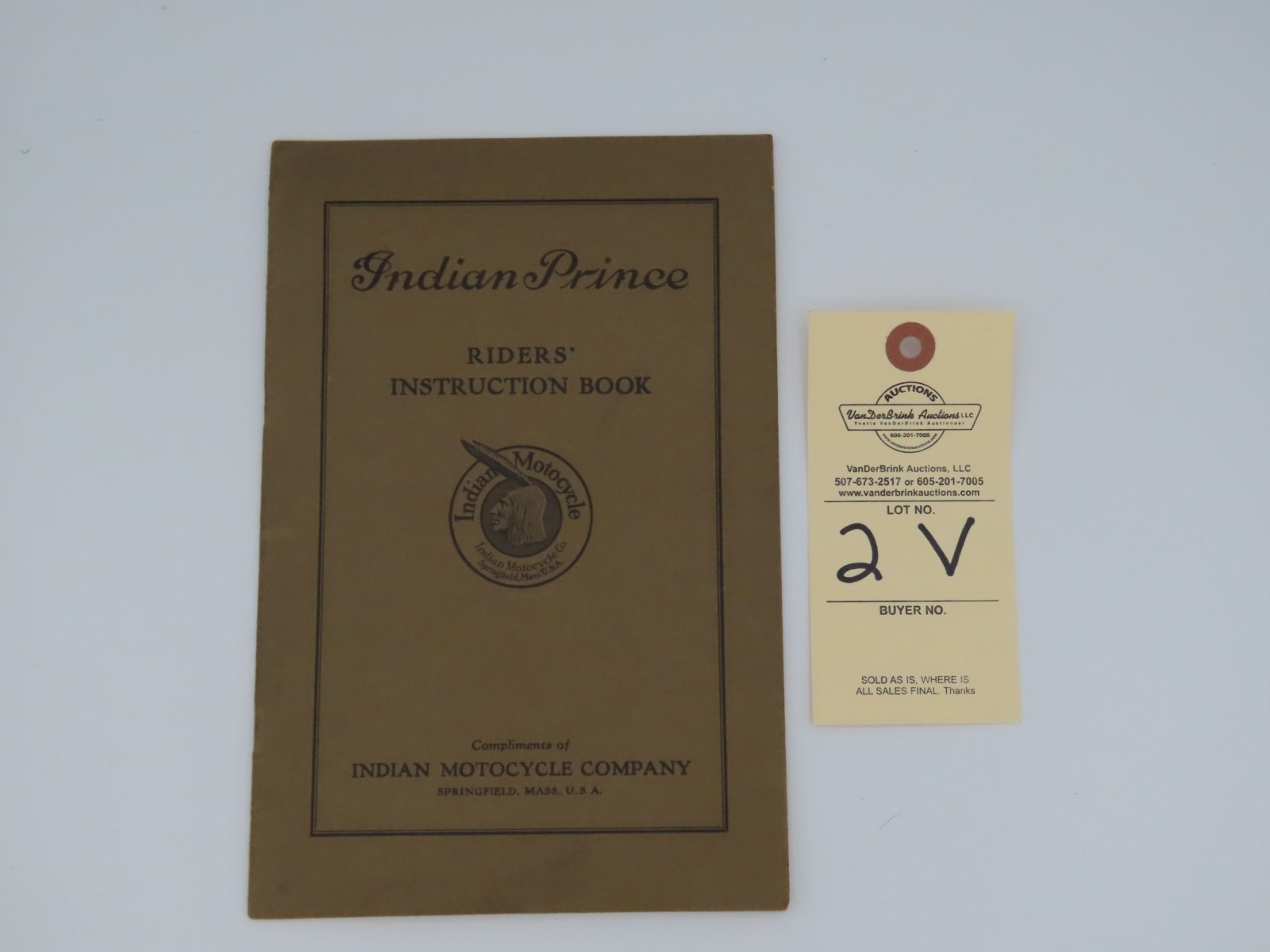Indian Prince Riders' Instruction Book - Image 1