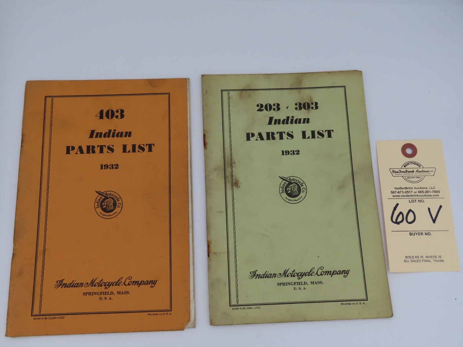 Indian Parts List Manual - Image 1