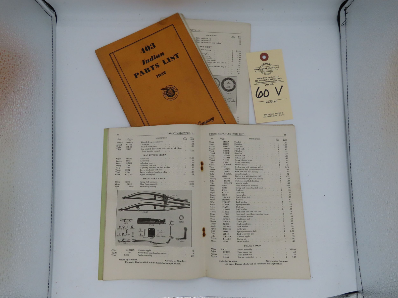 Indian Parts List Manual - Image 2