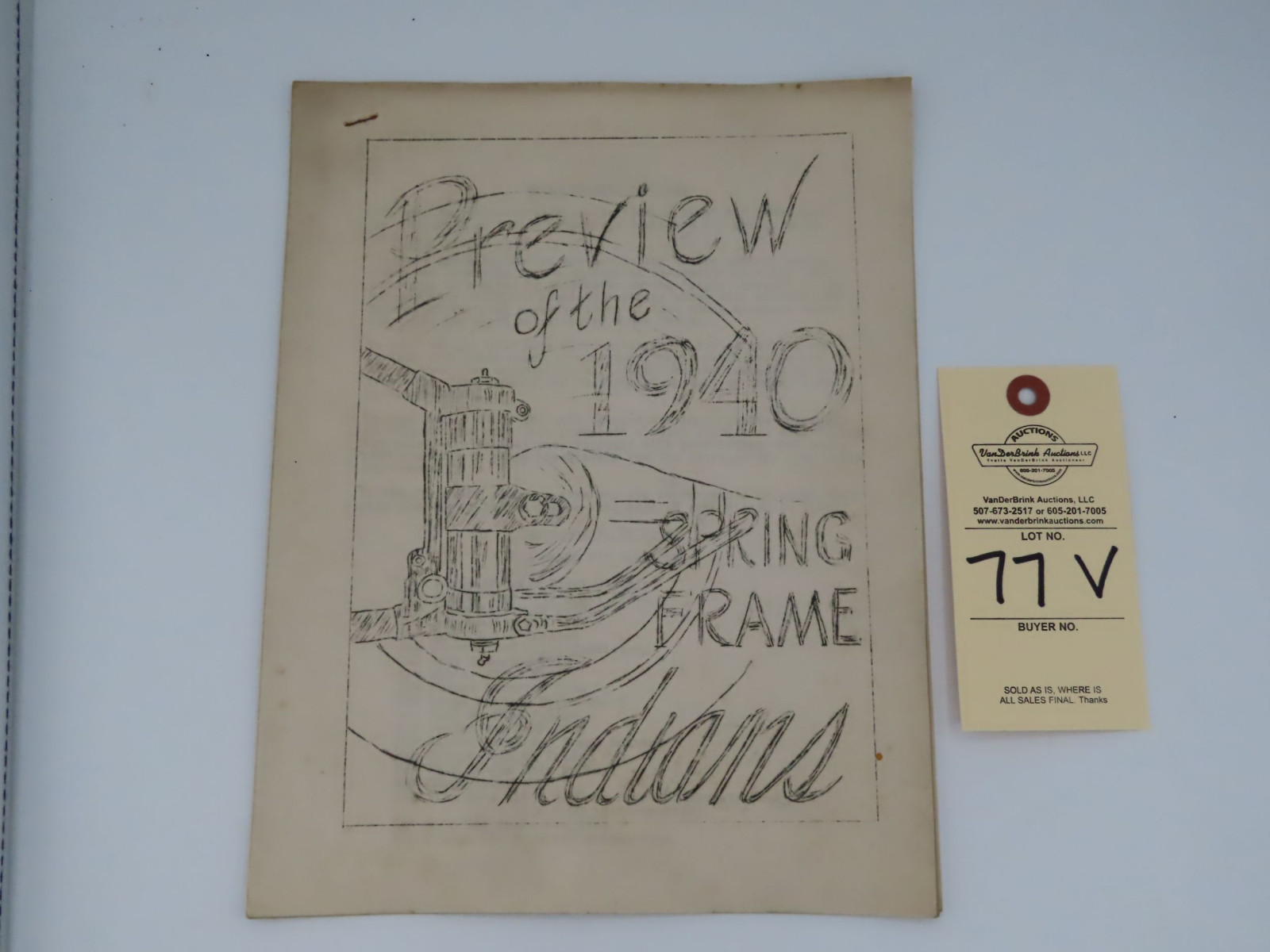Preview of the 1940 Spring Frame Indian - Image 1