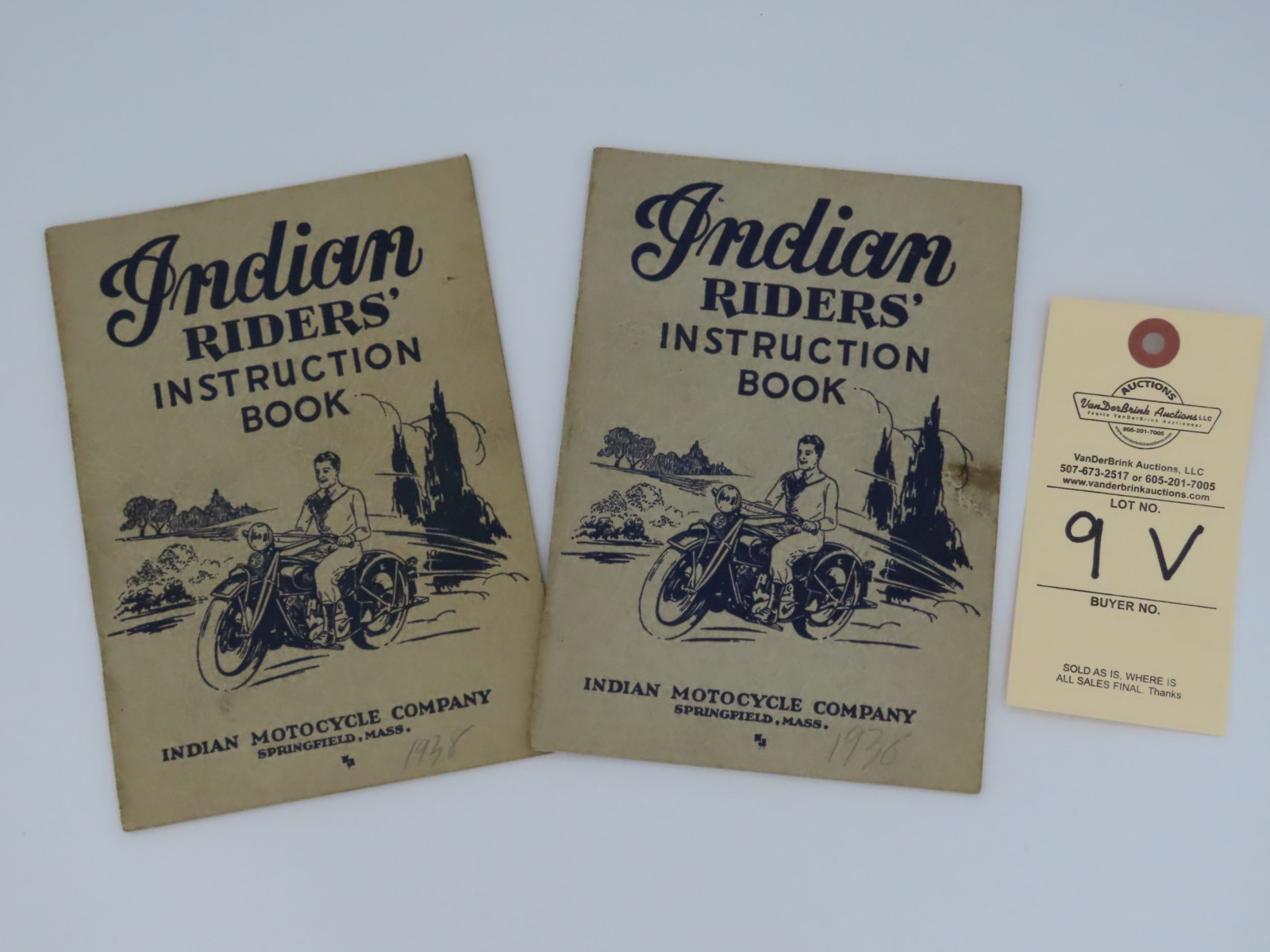 1938 Indian Riders' Instruction Book - Image 1