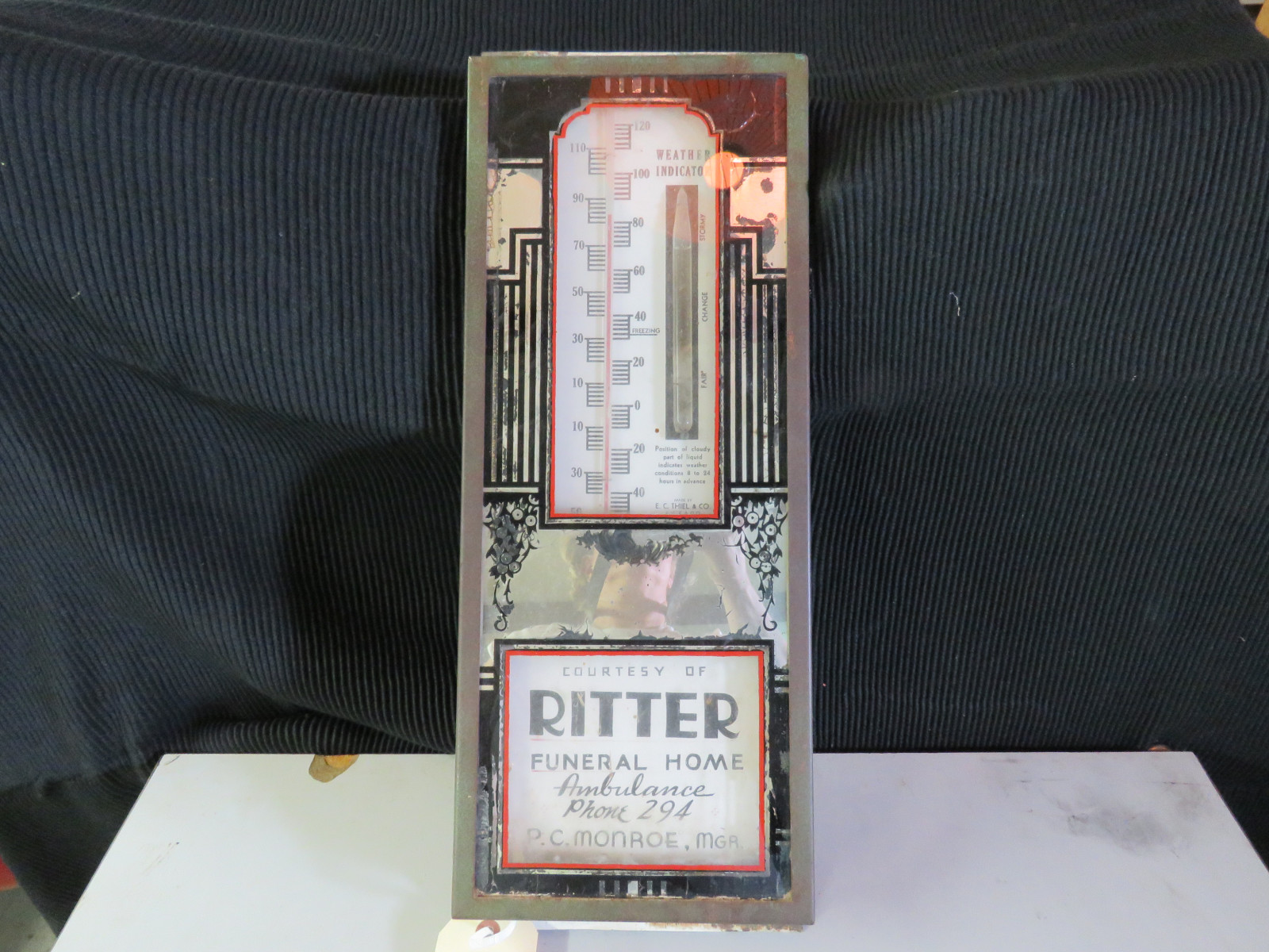 Ritter Funeral Home Advertising Thermometer - Image 1
