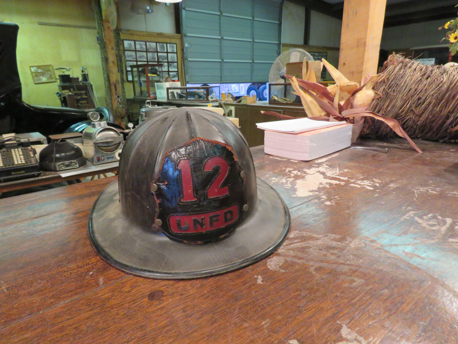 Vintage Fire Chief Helmets - Image 2