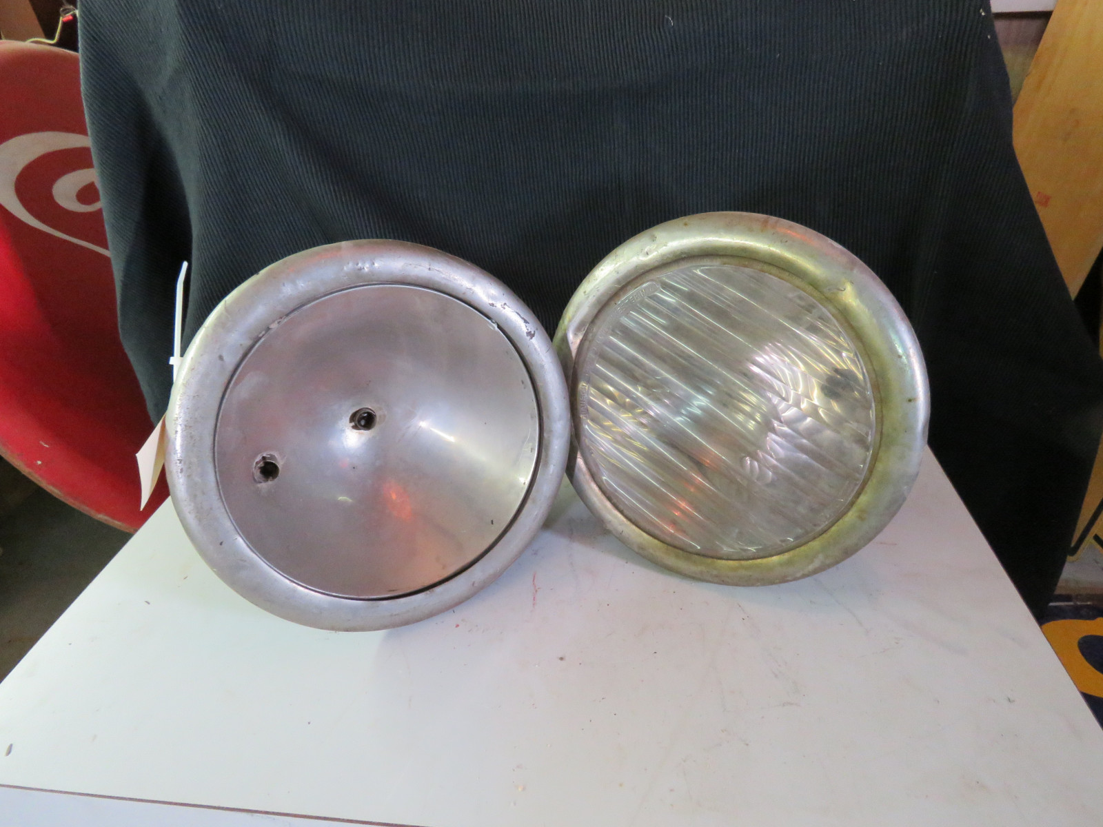 Pair of Vintage Headlights - Image 1