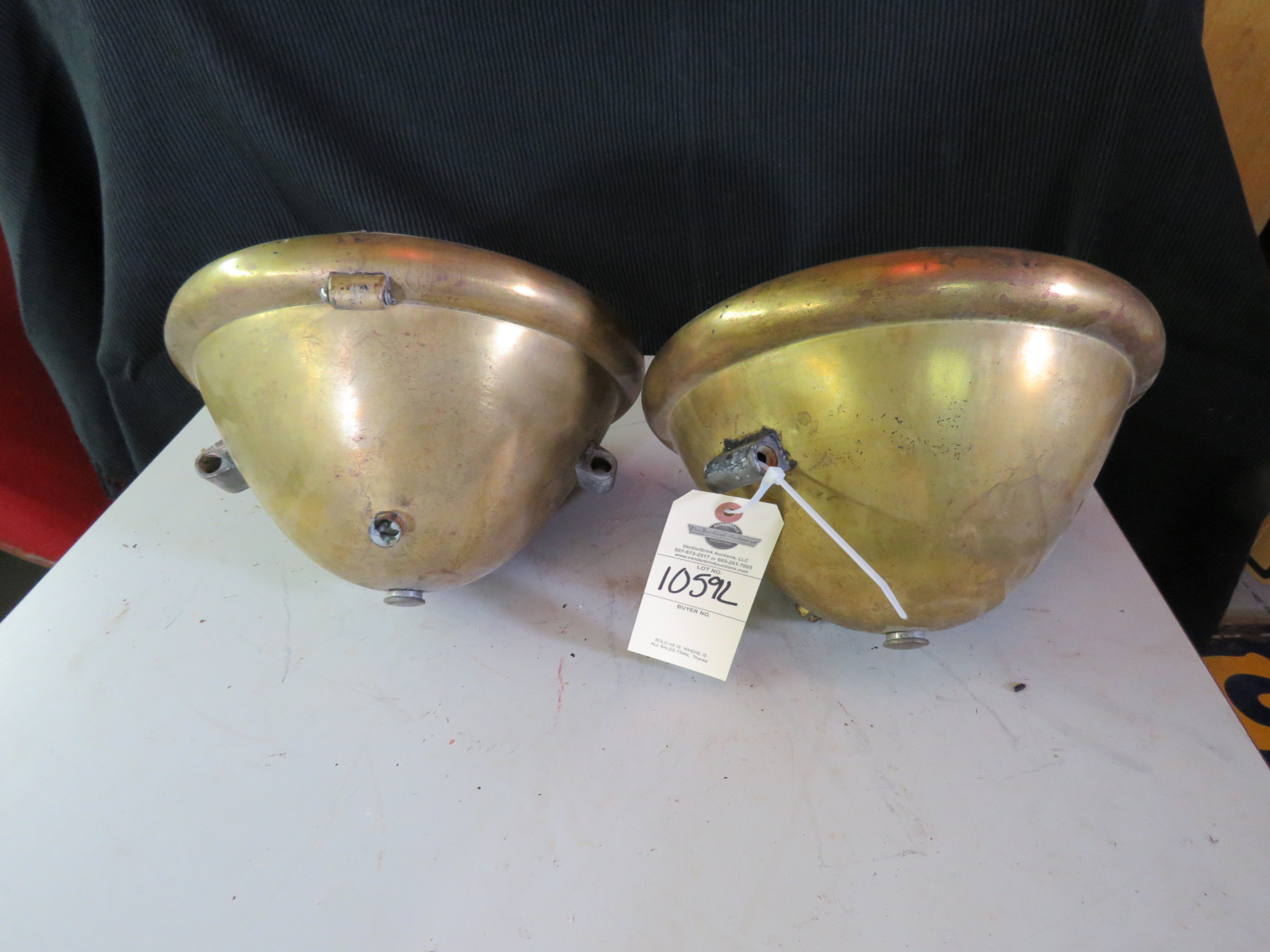 Pair of Brass Headlights - Image 2