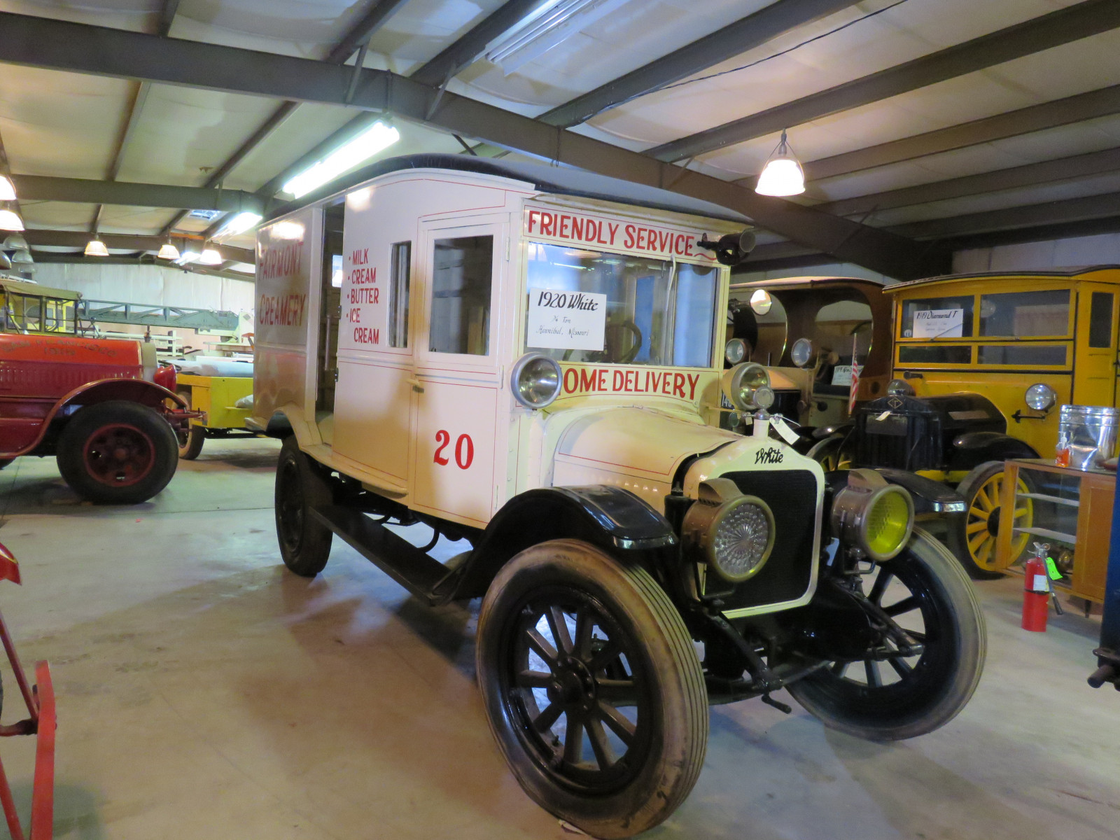RARE 1920 White Panel Delivery Truck - Image 1