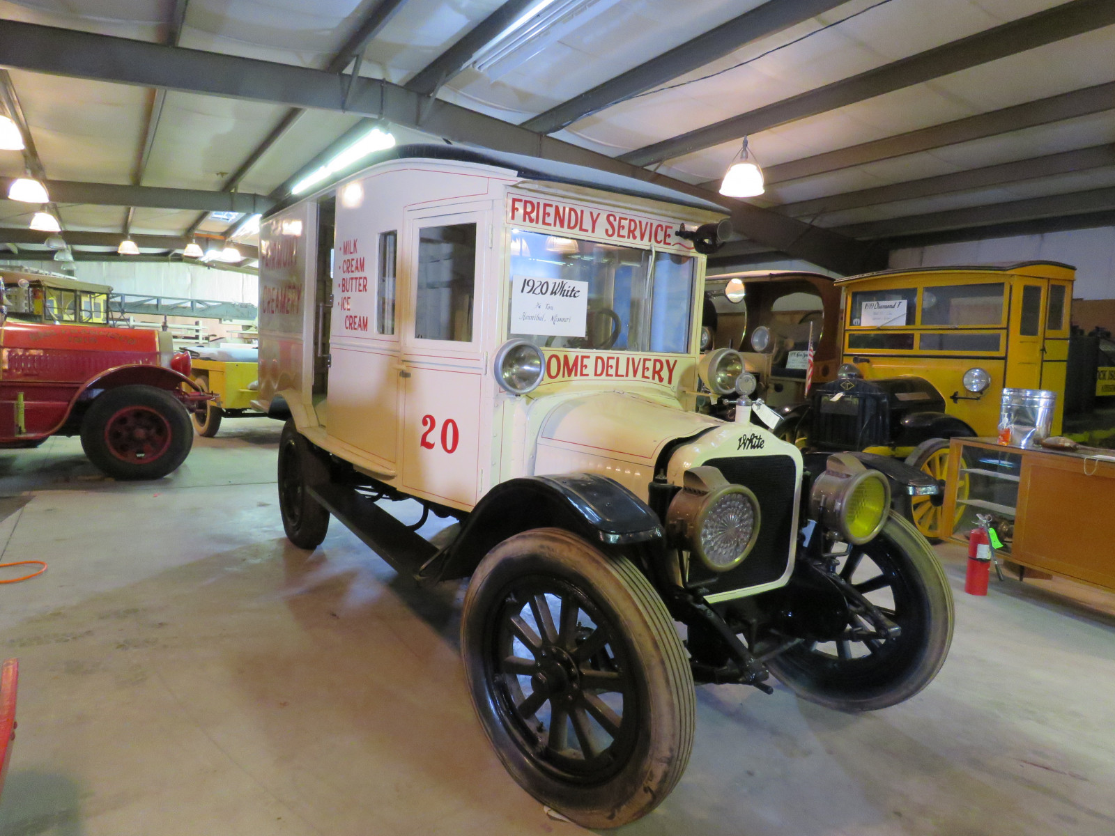 RARE 1920 White Panel Delivery Truck - Image 14