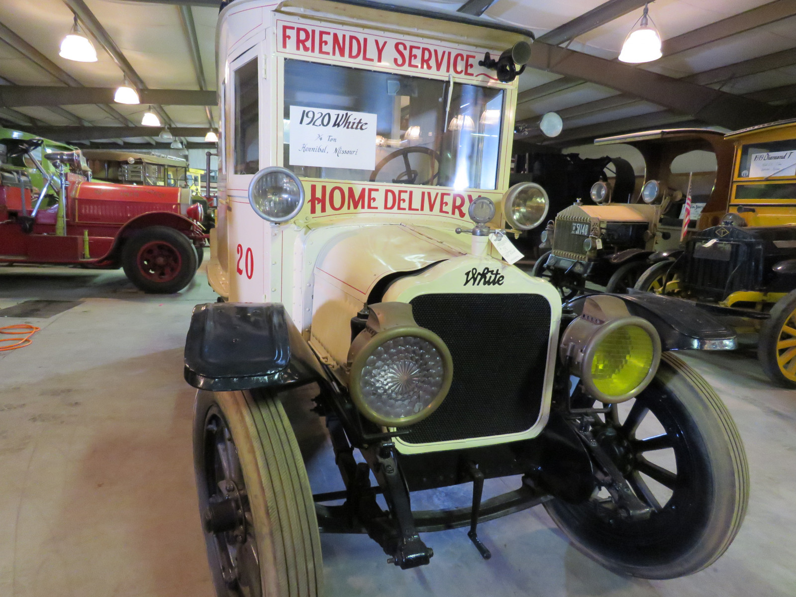 RARE 1920 White Panel Delivery Truck - Image 2