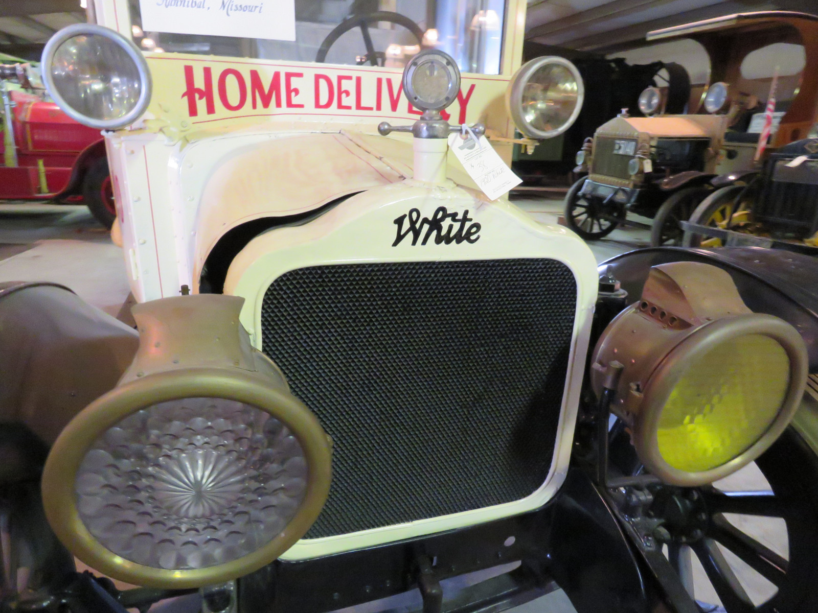 RARE 1920 White Panel Delivery Truck - Image 3