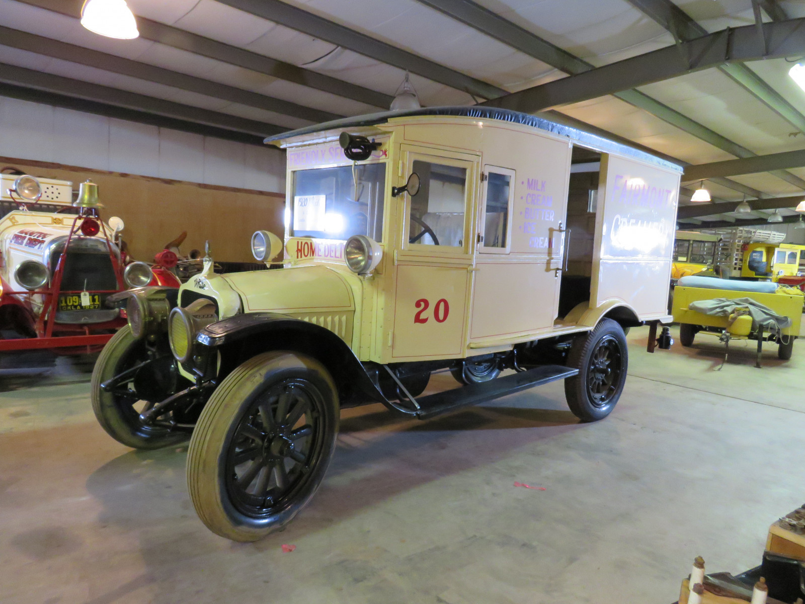 RARE 1920 White Panel Delivery Truck - Image 5