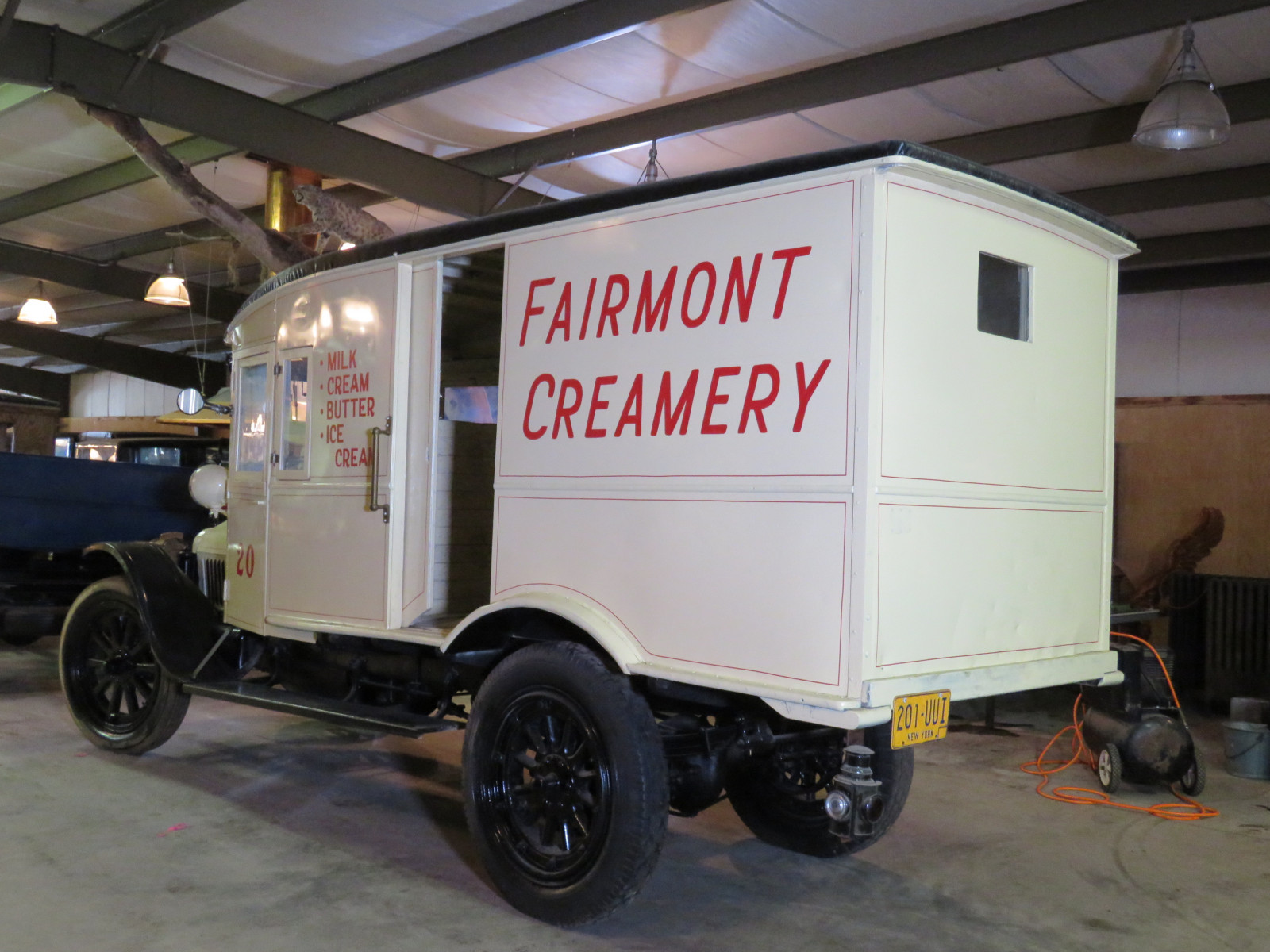 RARE 1920 White Panel Delivery Truck - Image 6