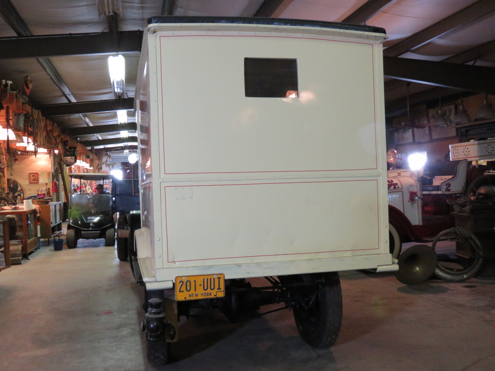 RARE 1920 White Panel Delivery Truck - Image 7