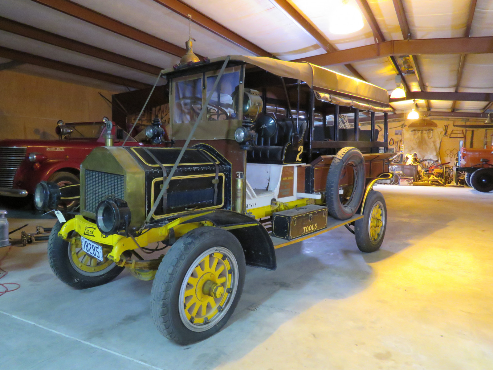 RARE 1910 Knox Open Cab Stakebed Truck - Image 1